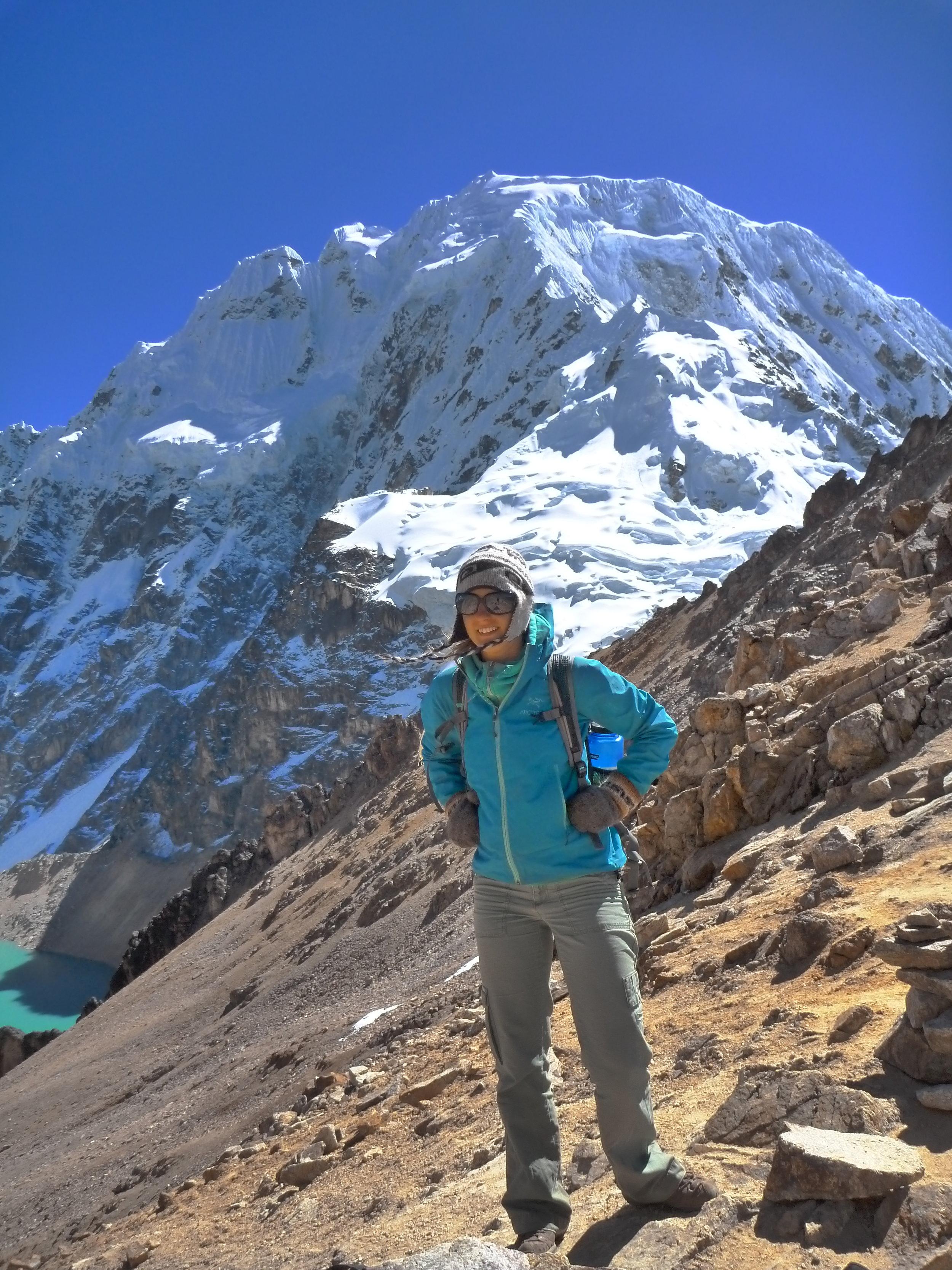 Mountain pass at 5000m in Peru