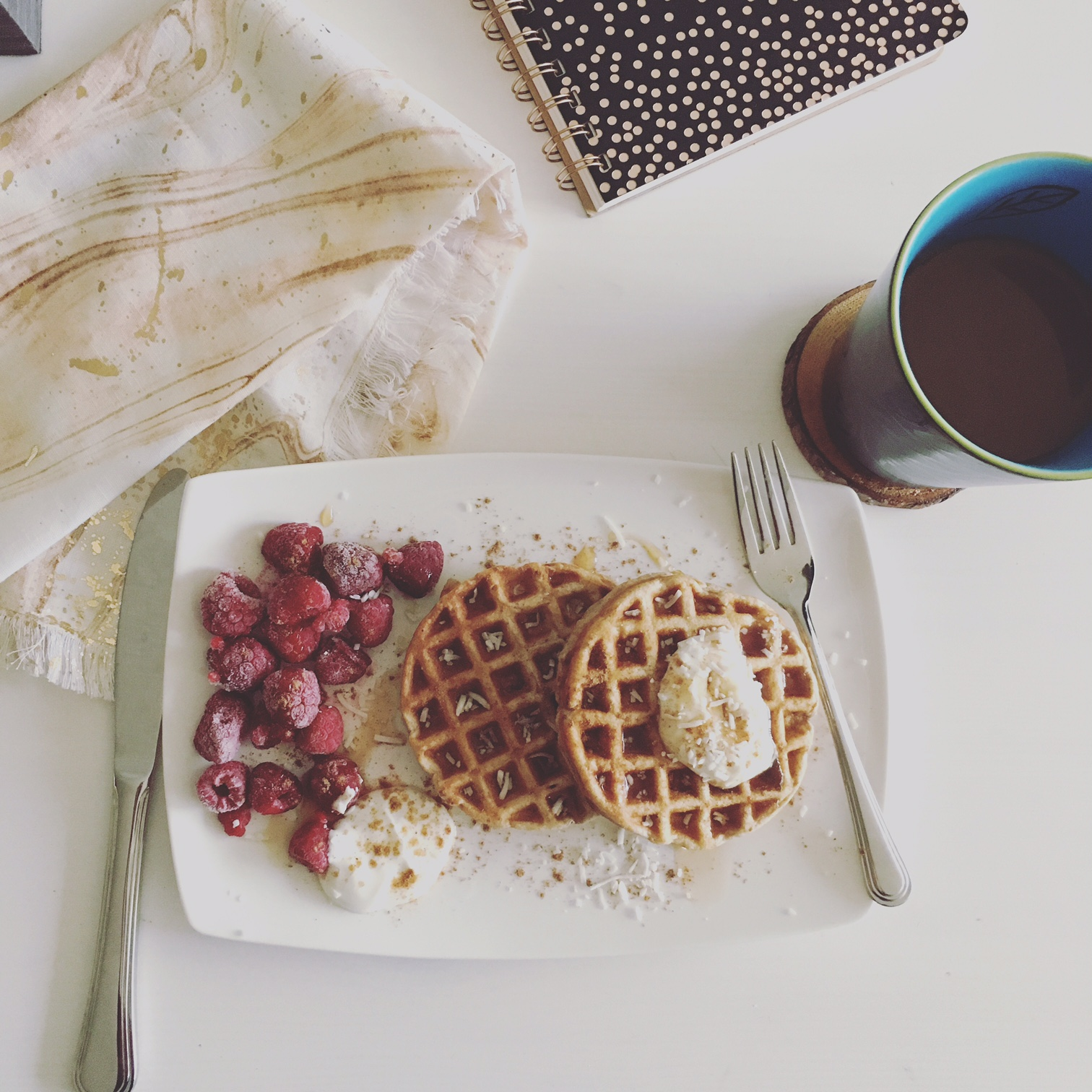 coconut chai toaster waffles 2