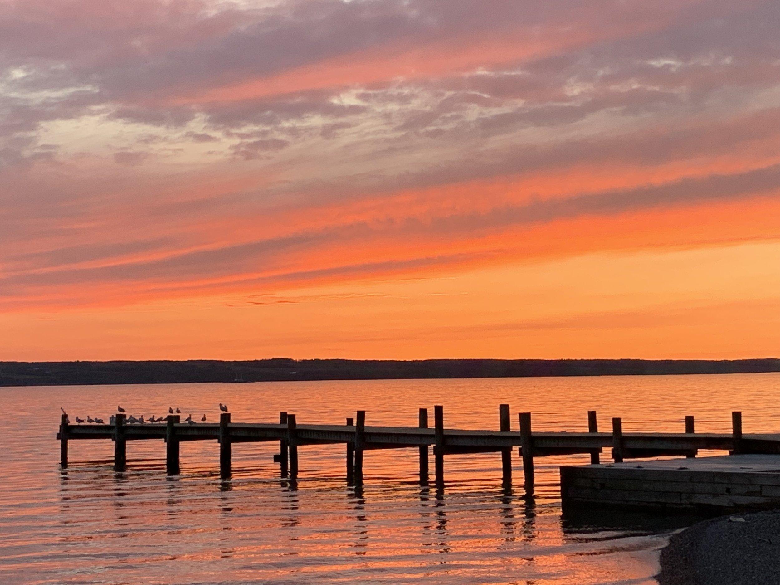 View of Seneca Lake Sunset