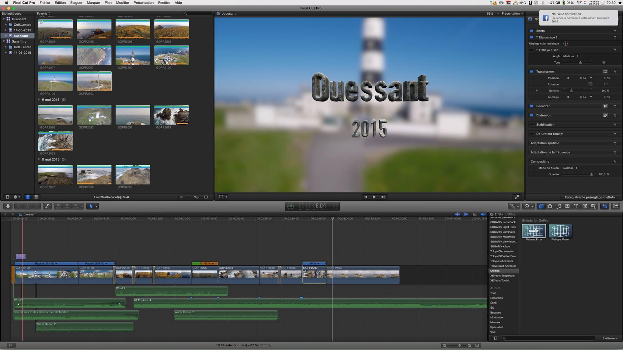 Montage de mes films sous Final Cut Pro