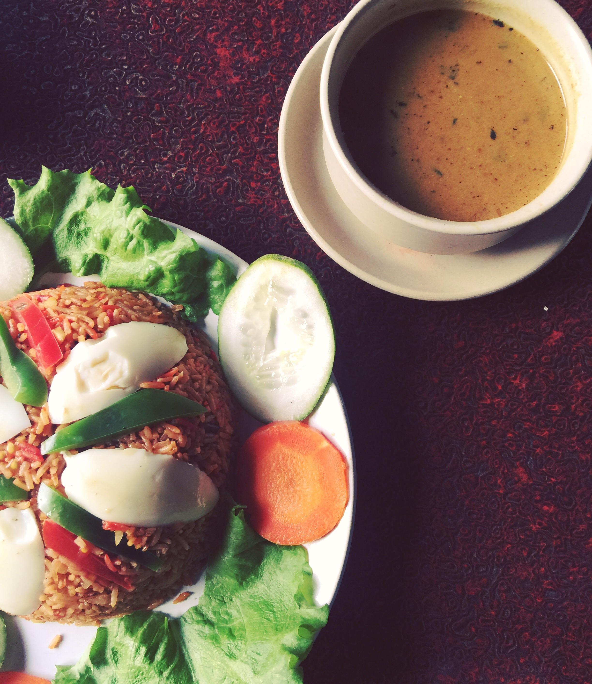Nepalese biryani and chicken keema curry