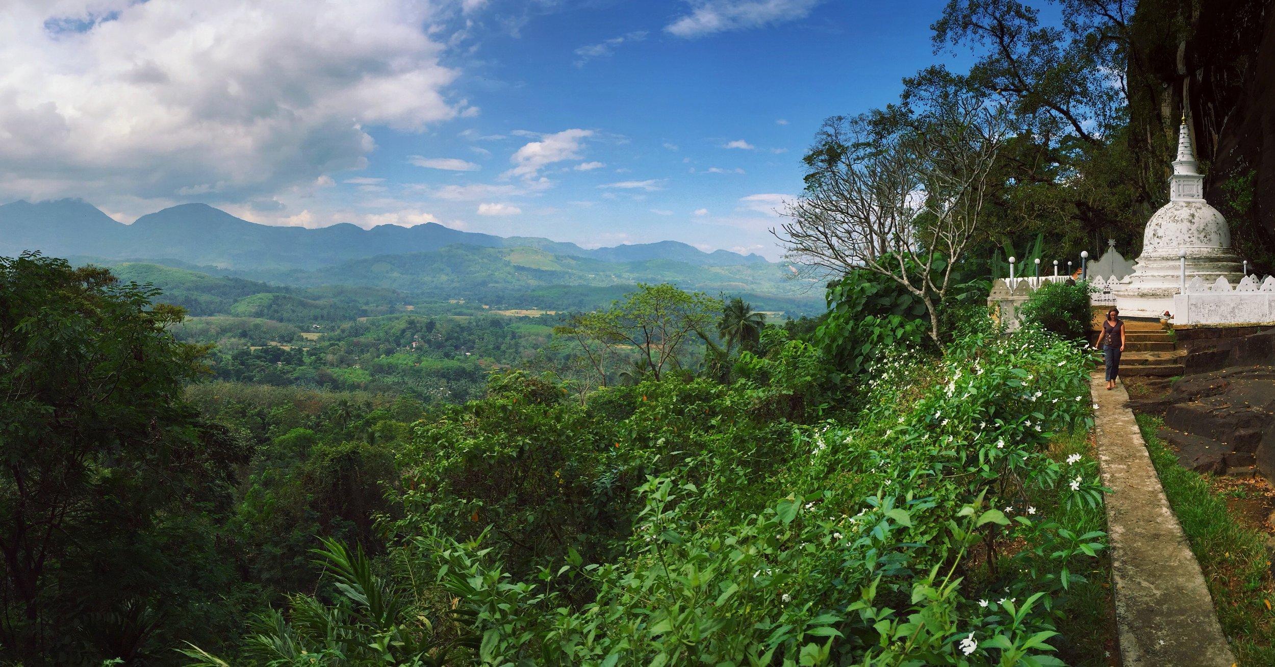 Hillside temple near Ratnapura, Sri Lanka.