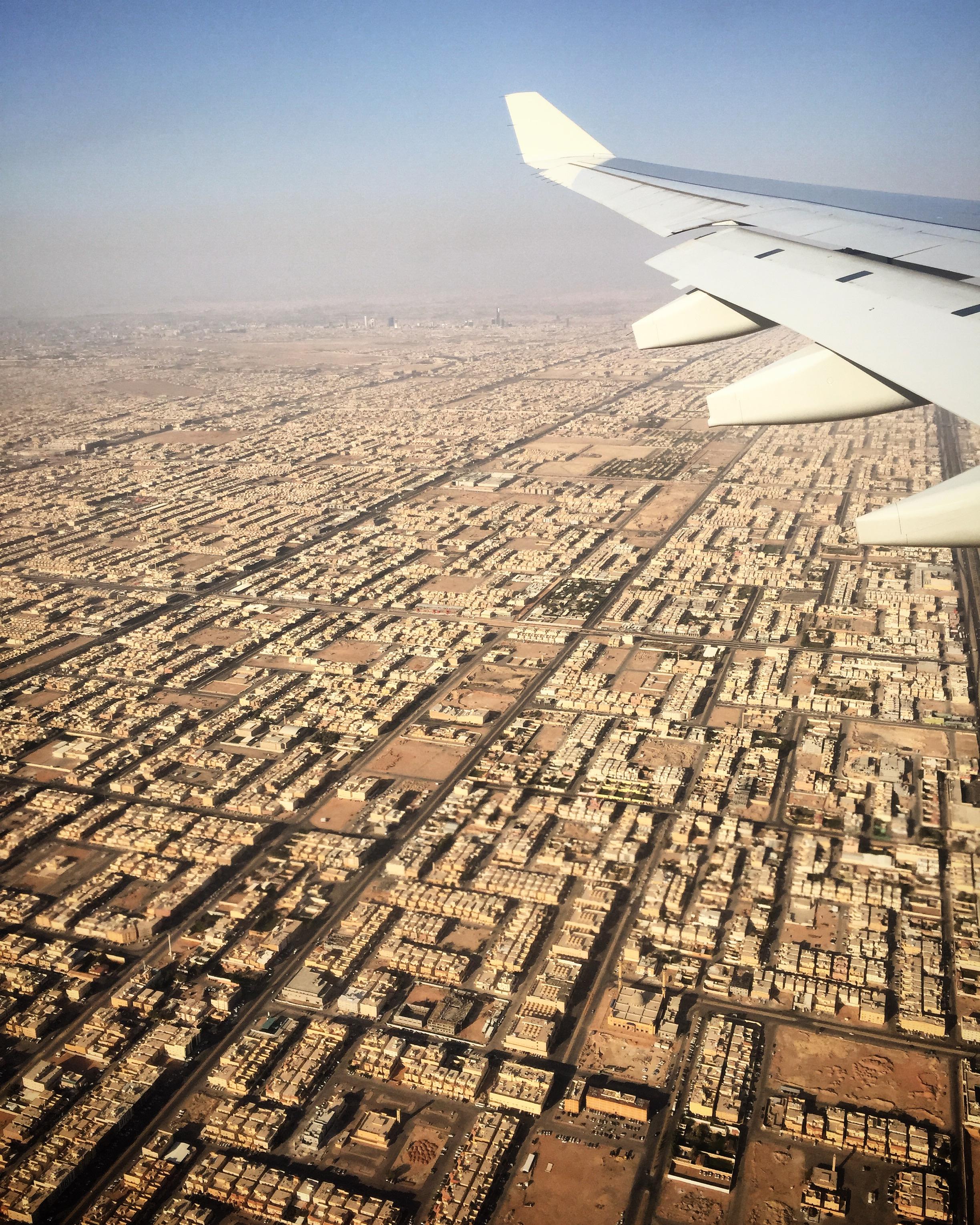 Landing in Riyadh, Saudi Arabia