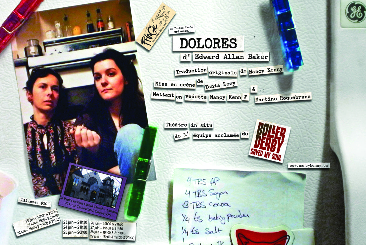 Poster from the first production of  Dolores