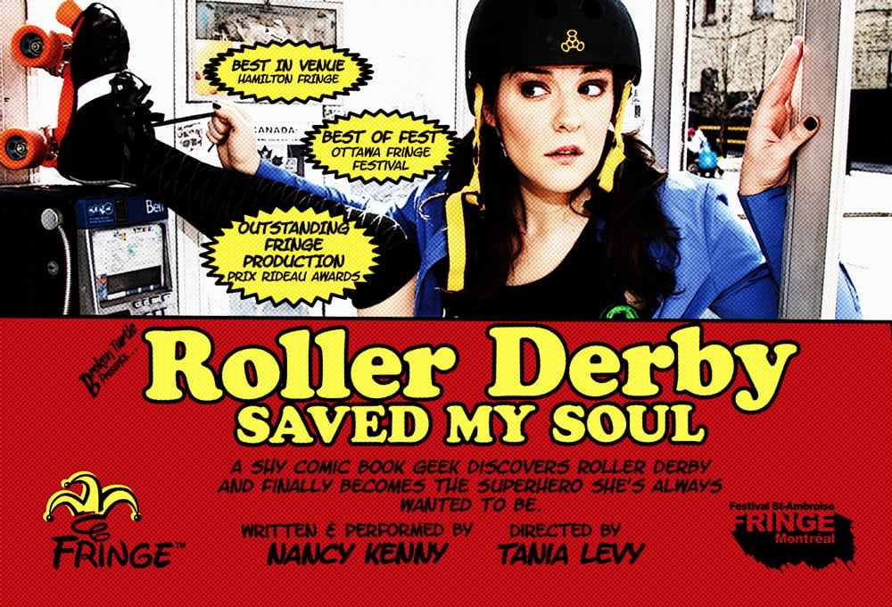 Early tour flyer for  Roller Derby Saved My Soul