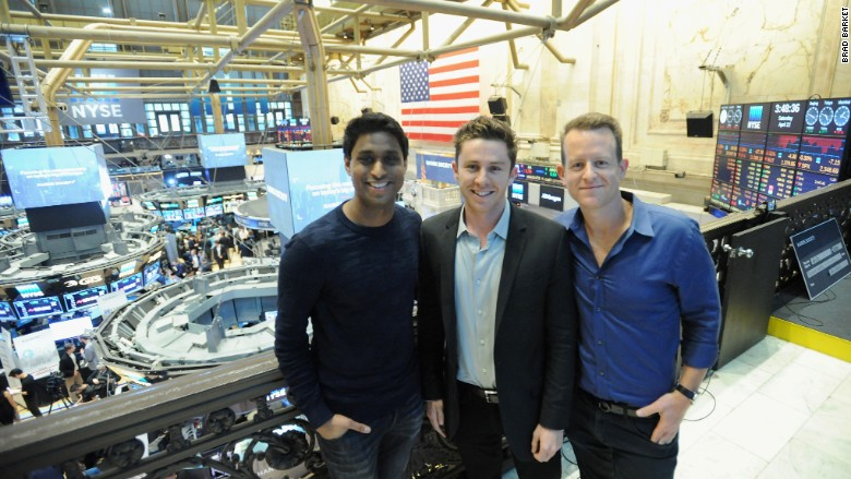 Kairos Society cofounders at the New York Stock Exchange.