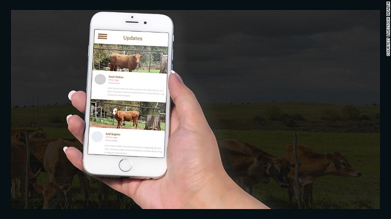 Investors can track their cows using the Livestock Wealth app.