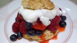 Mixed Berry Shortcakes with Brown Sugar Biscuits
