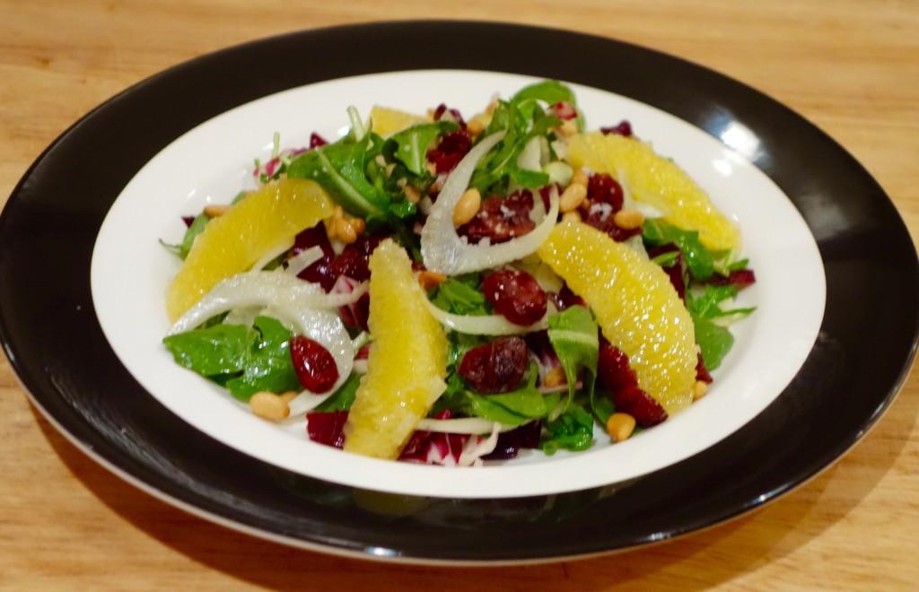Radicchio Salad with Fennel, Oranges & Pine Nuts