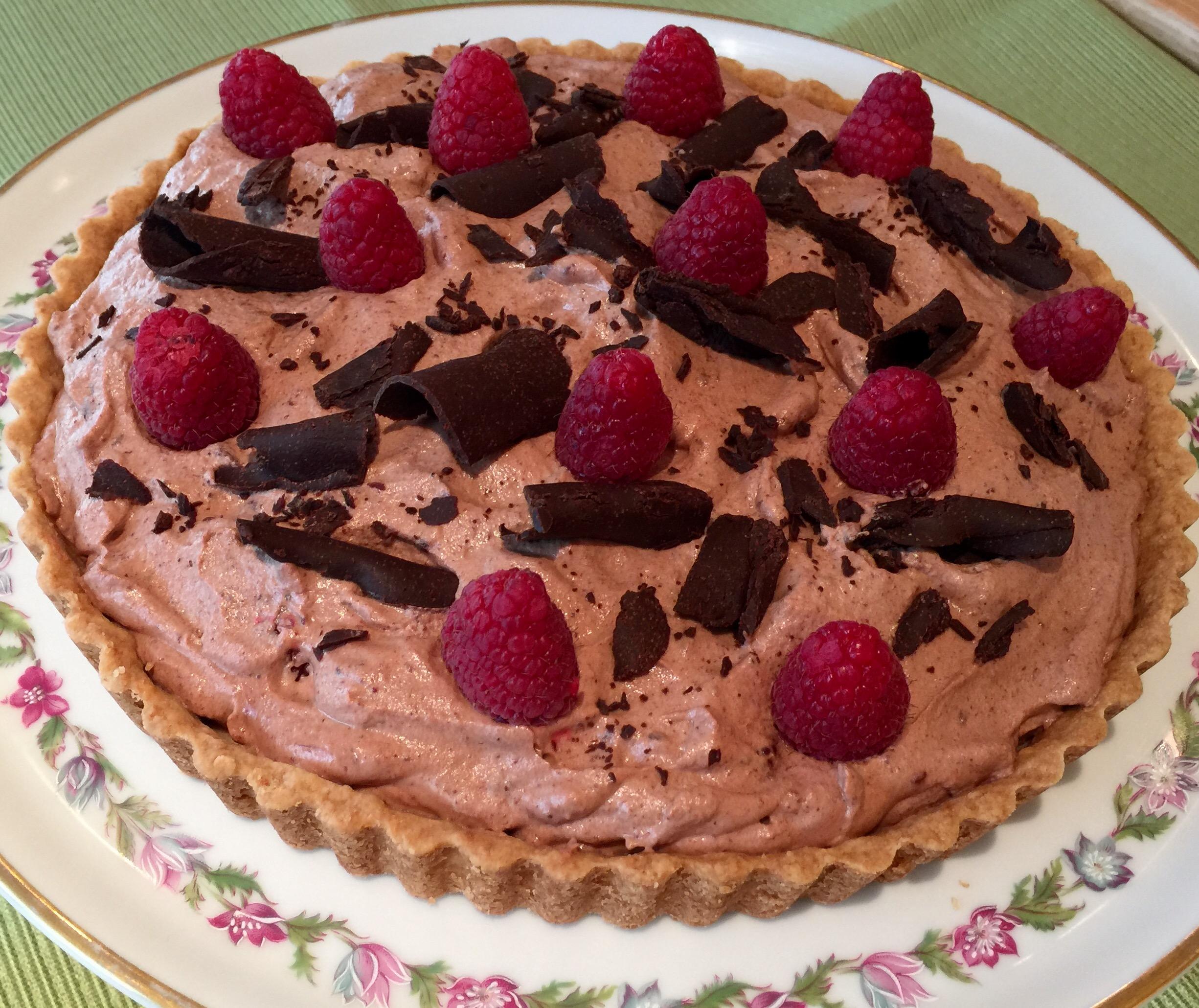 Chocolate Raspberry Chantilly Tart