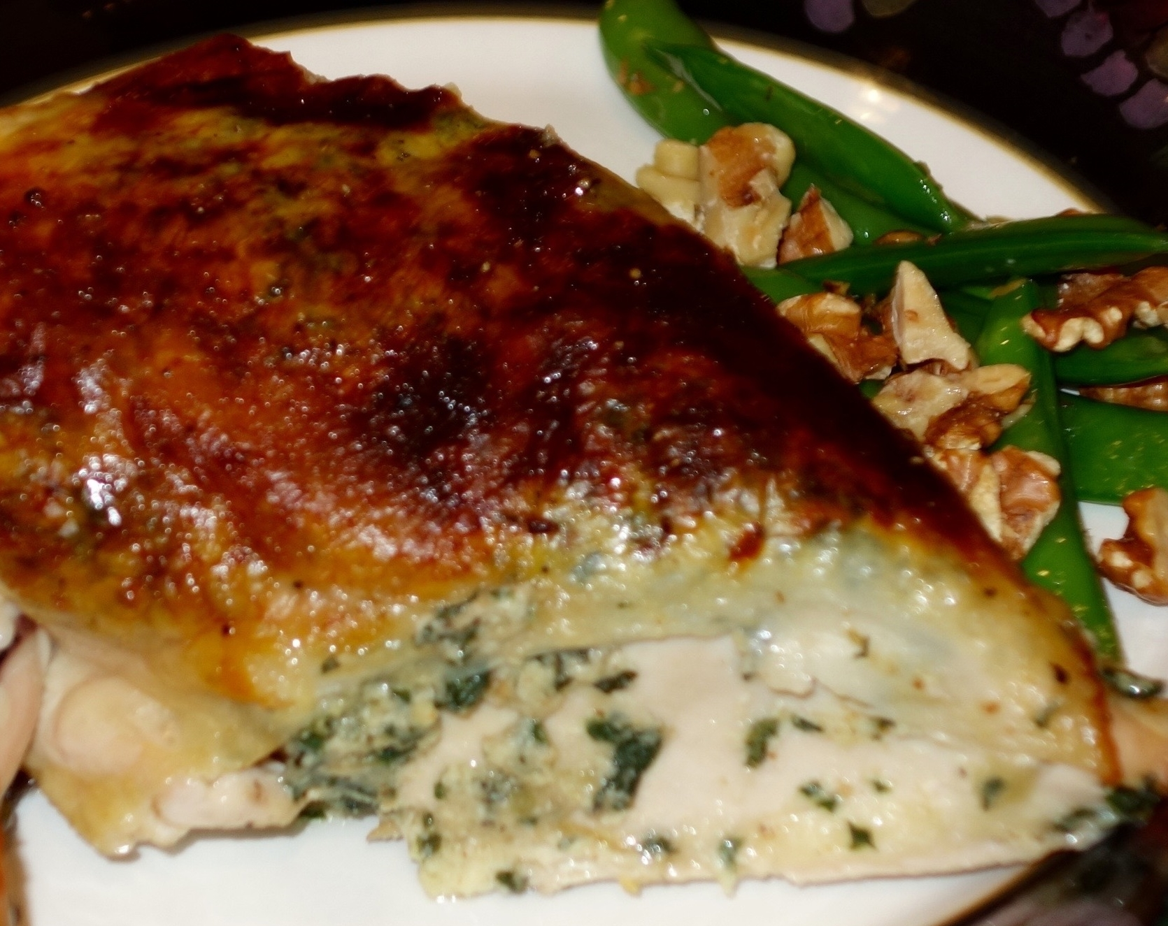 Spatchcock Chicken Stuffed with Chard, Ricotta & Basil