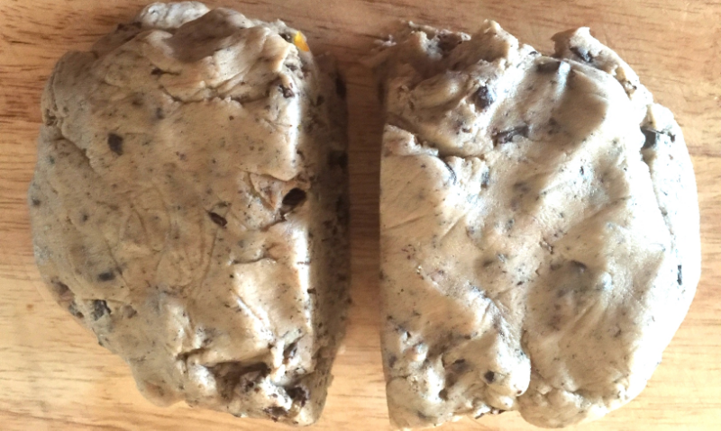 Knead the dough to help it hold together and then divide it in half. Shape each piece into a 6-inch disk.