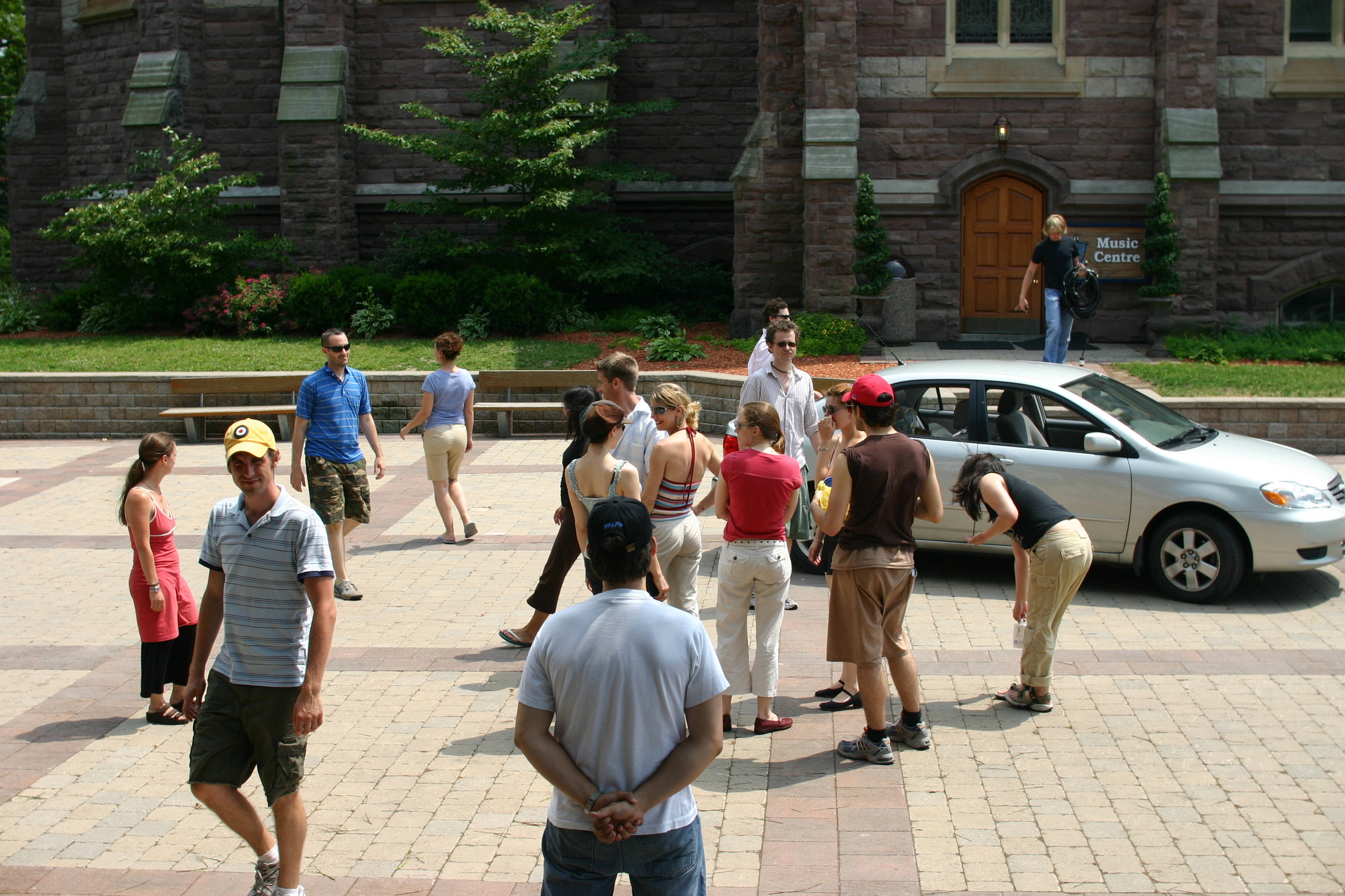 Full Company at rehearsal – first day on-site at the Royal St. George's College parking lot