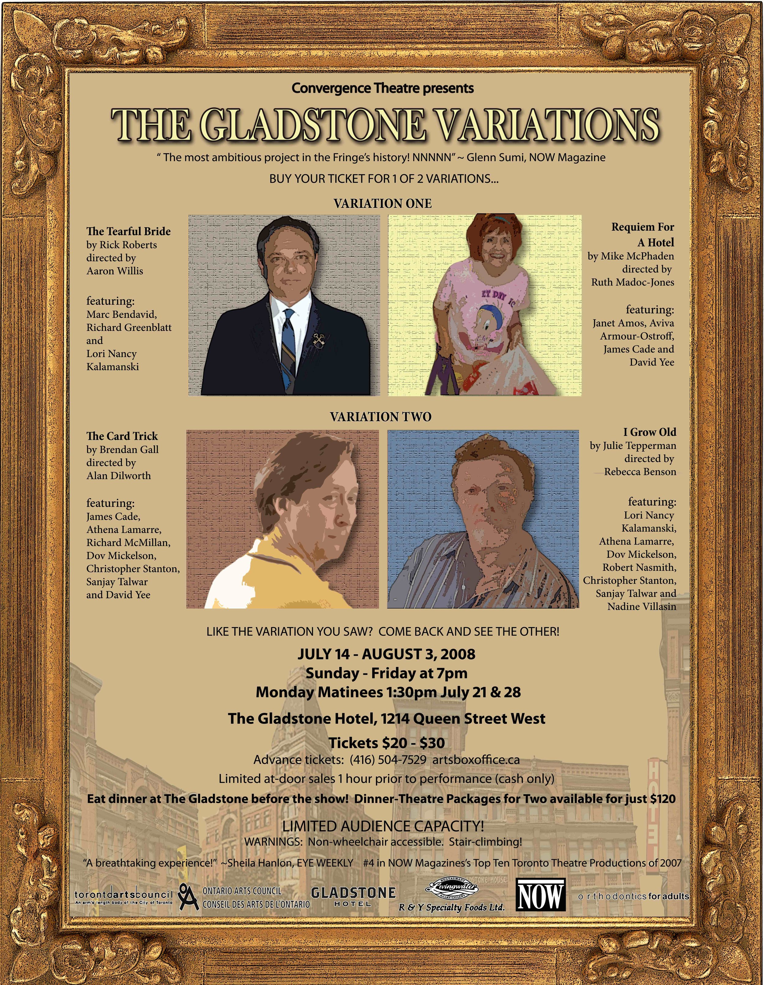 Original Poster for  The Gladstone Variations  2008   remount.  Designed by Amy Tepperman.