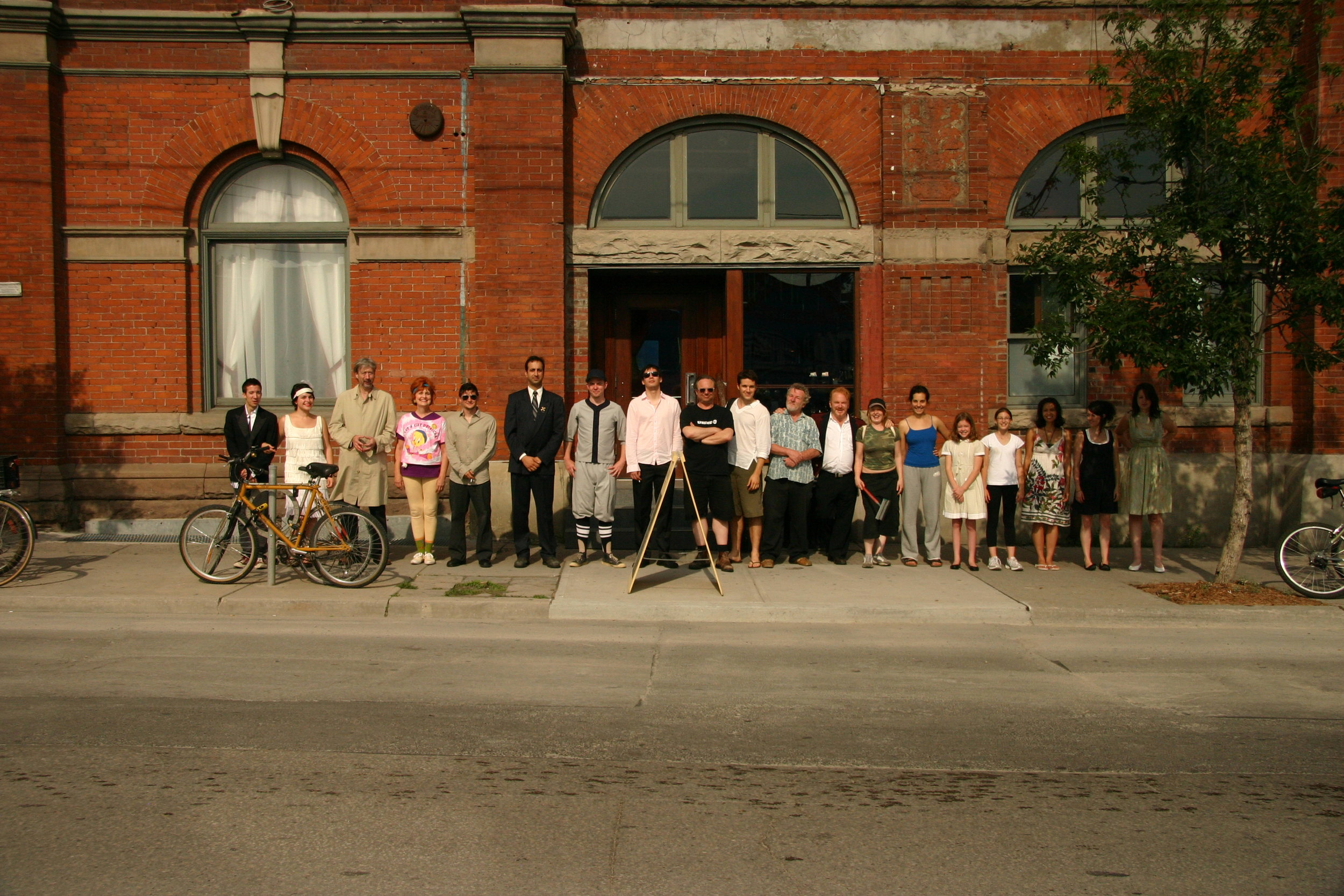 The Cast of  The Gladstone Variations  outside The Gladstone Hotel in Toronto