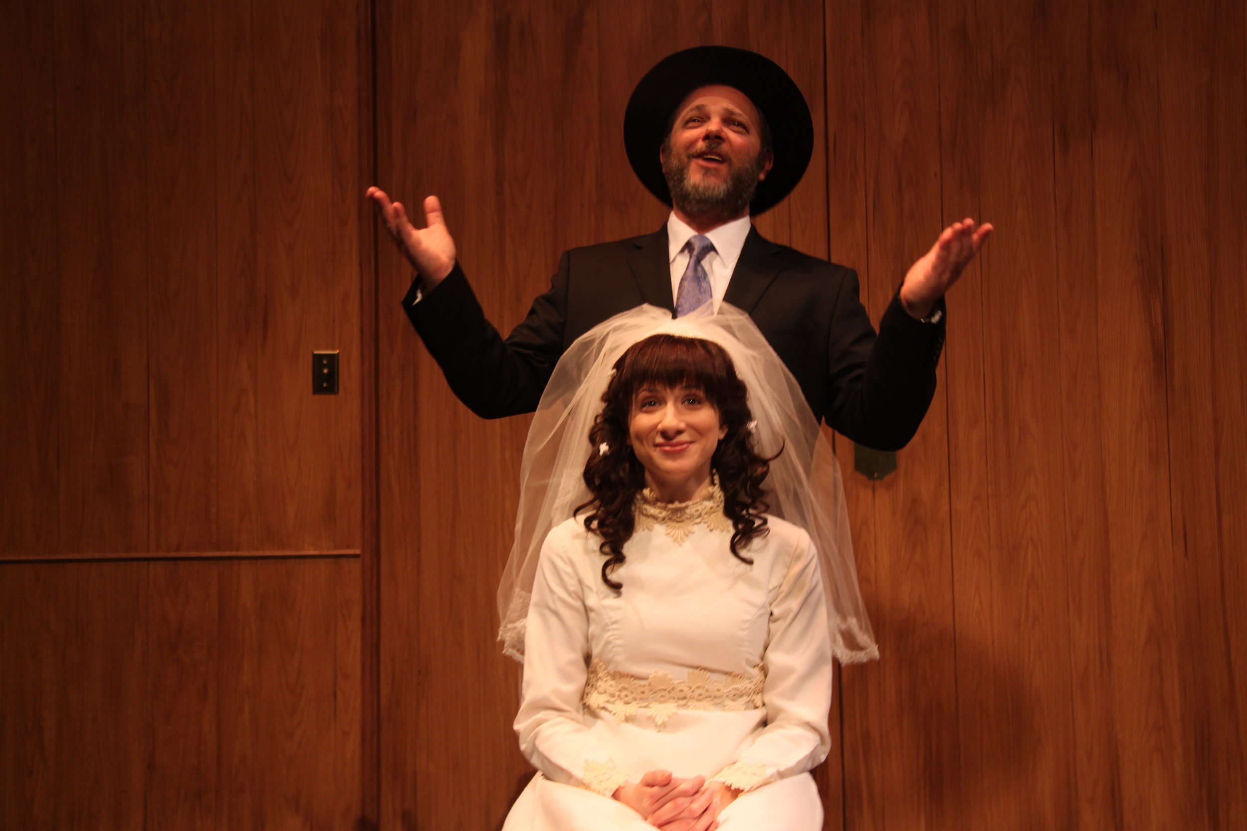 Richard Greenblatt as Morty and Julie Tepperman as Rachel in YICHUD (Seclusion)