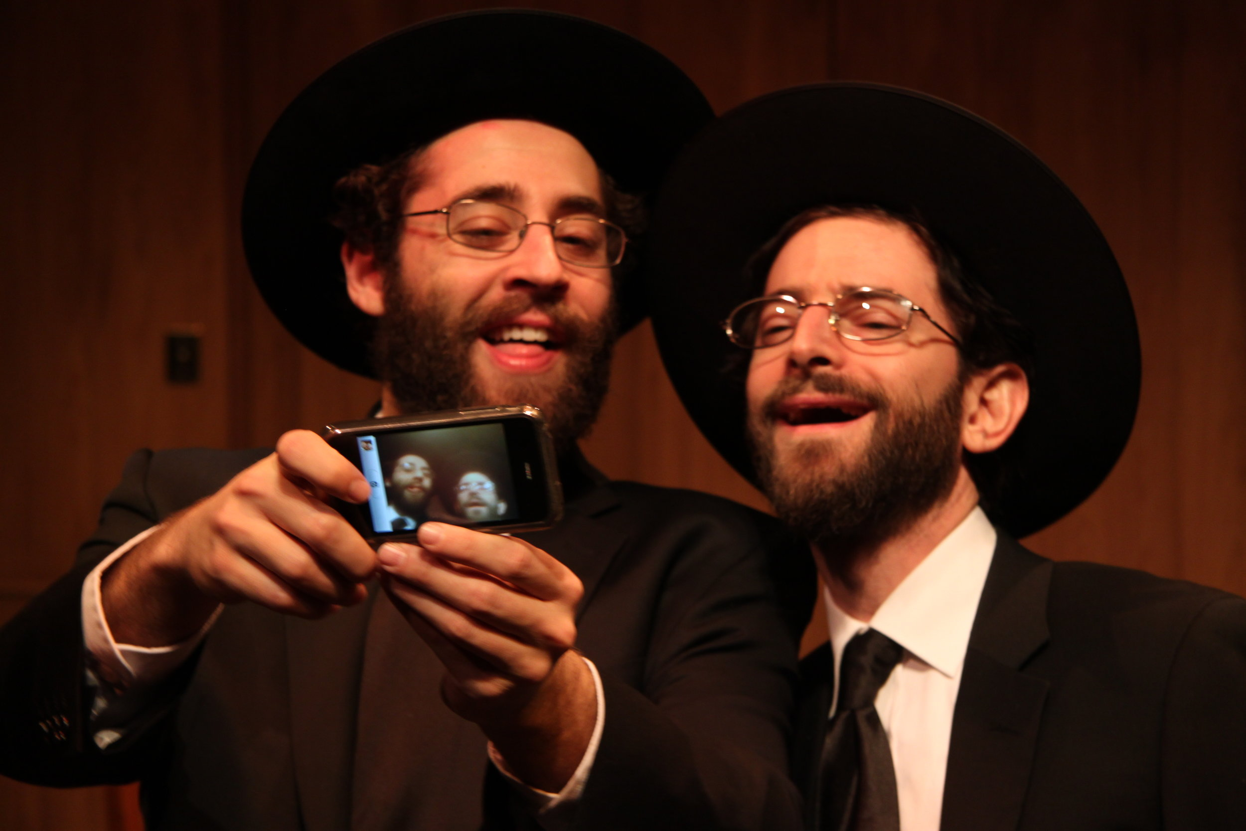 Michael Rubenfeld as Menachem and Jordan Pettle as Ephraim in YICHUD (Seclusion)