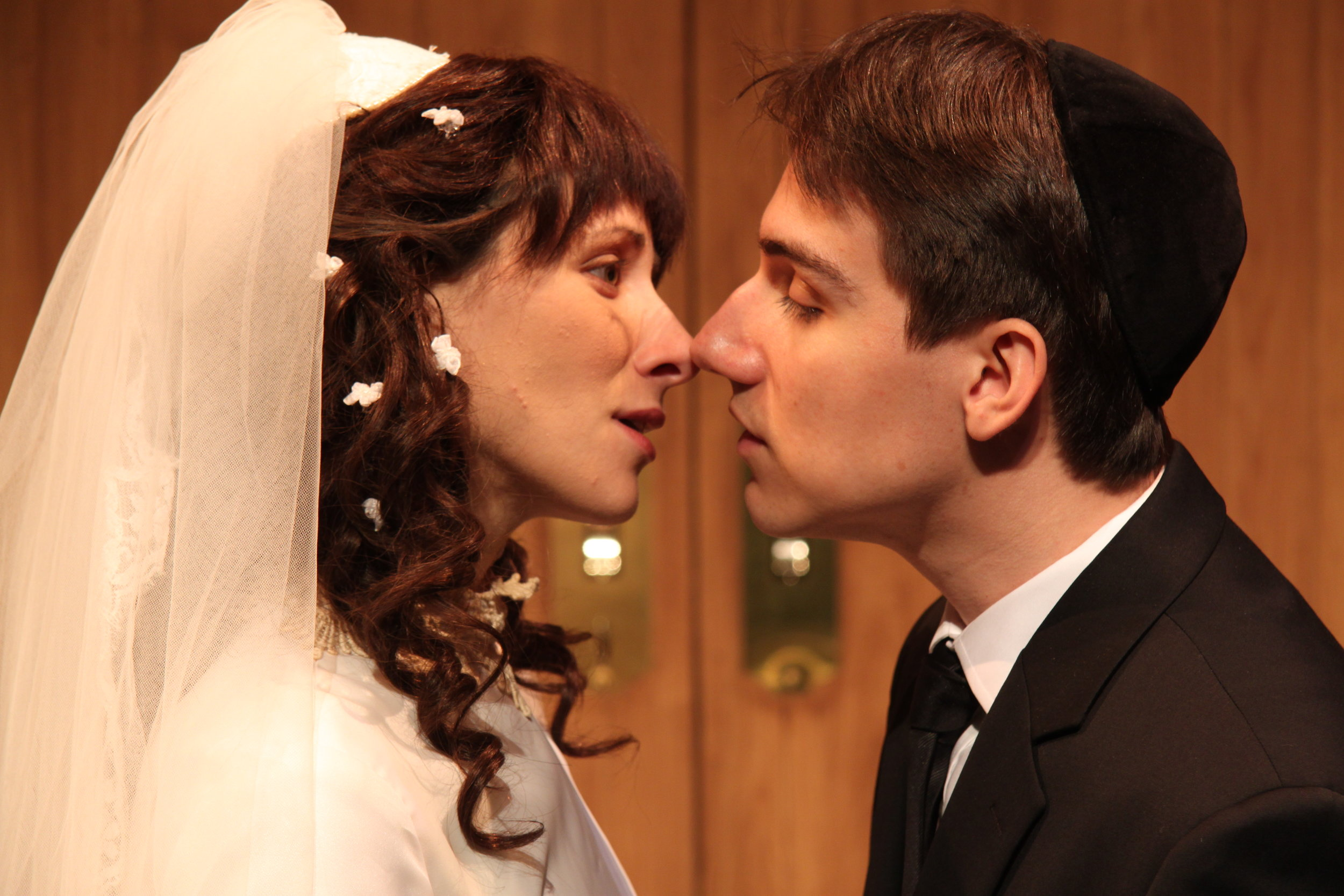 Julie Tepperman as Rachel and Aaron Willis as Chaim in YICHUD (Seclusion)