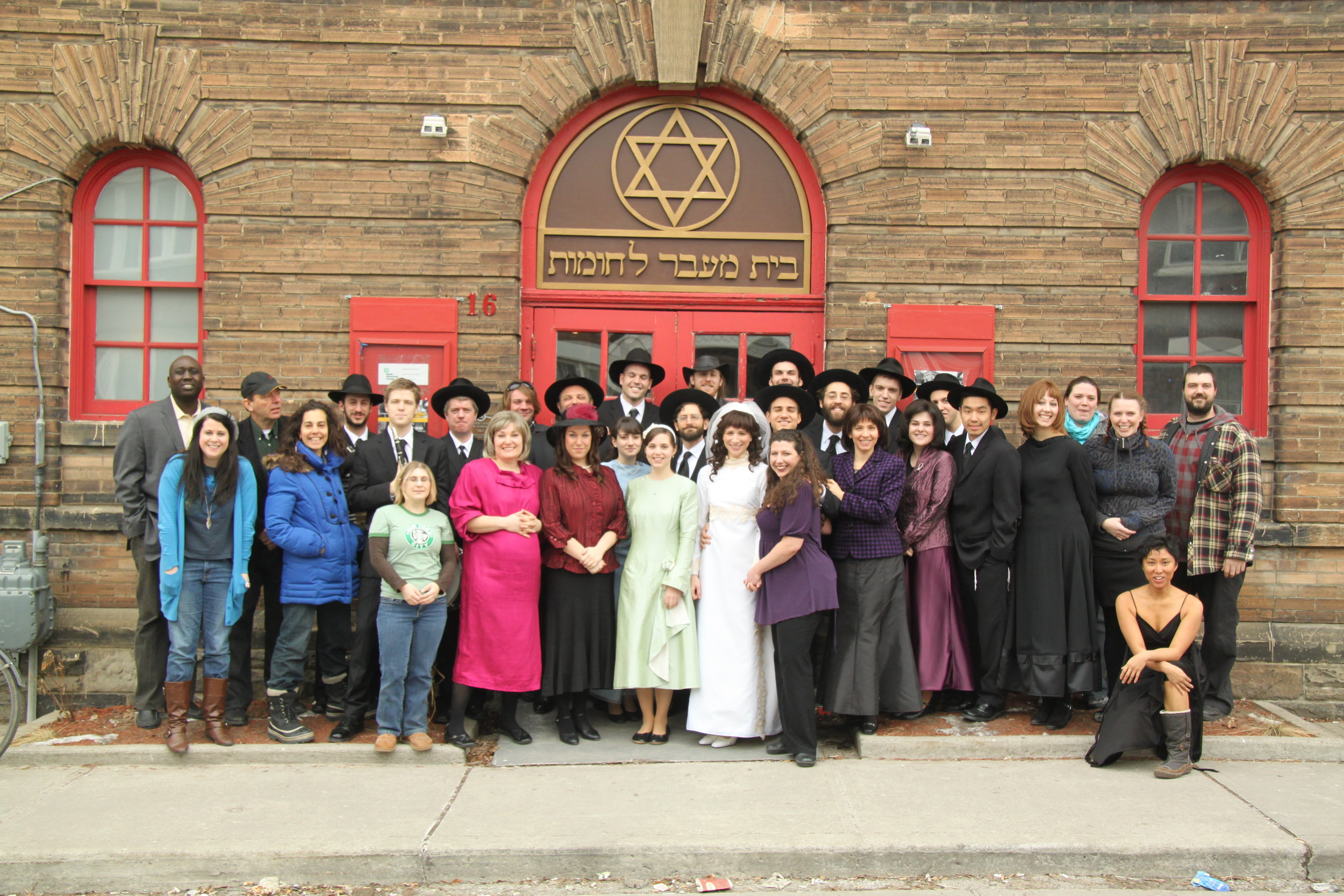 Outside Theatre Passe Muraille, turned Synagogue: Full Cast, Creative Team, and TPM Staff