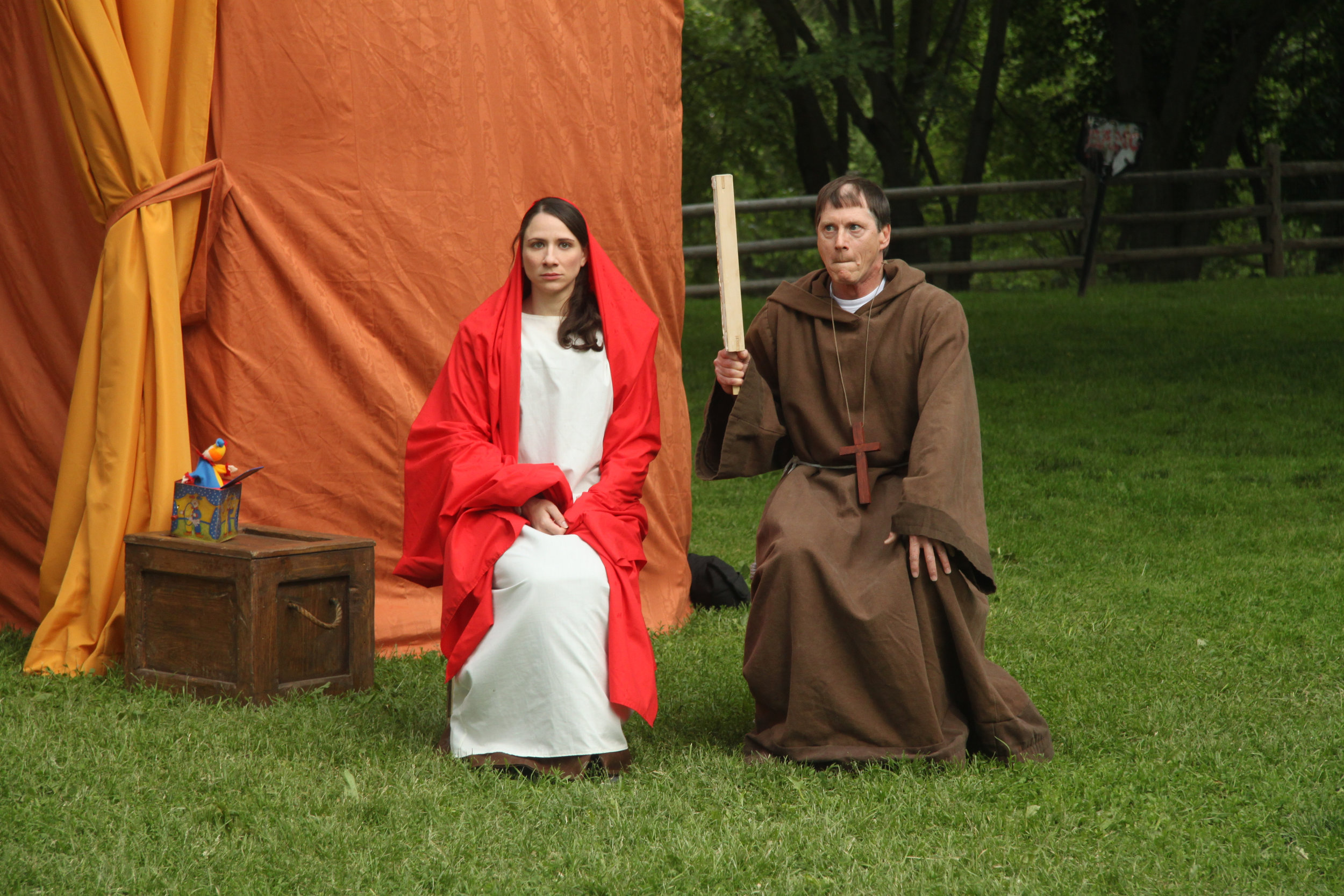 Julie Tepperman and Richard Binsley in Passion Play (Part One)