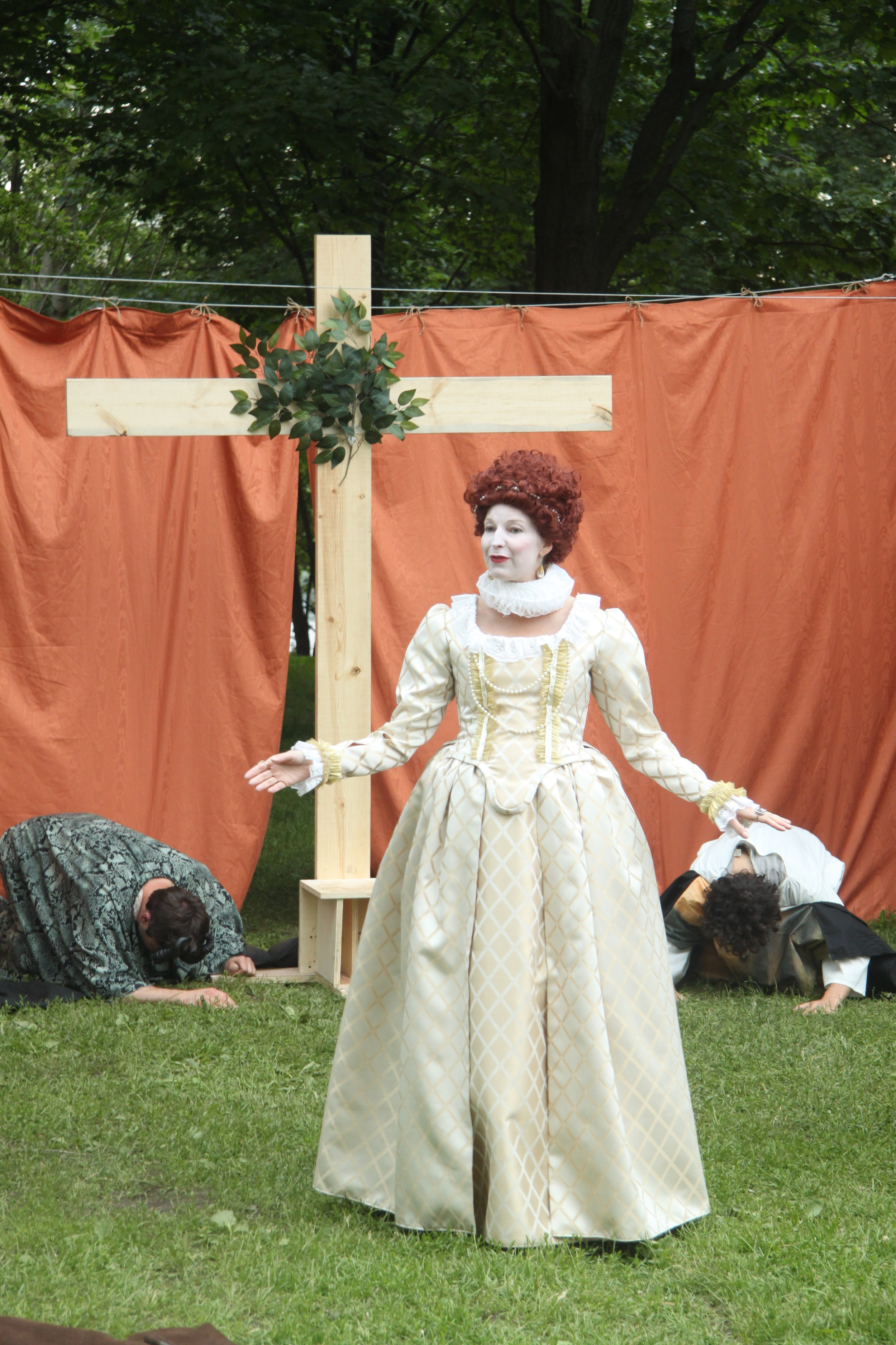 Maev Beaty as Queen Elizabeth in Passion Play (Part One)