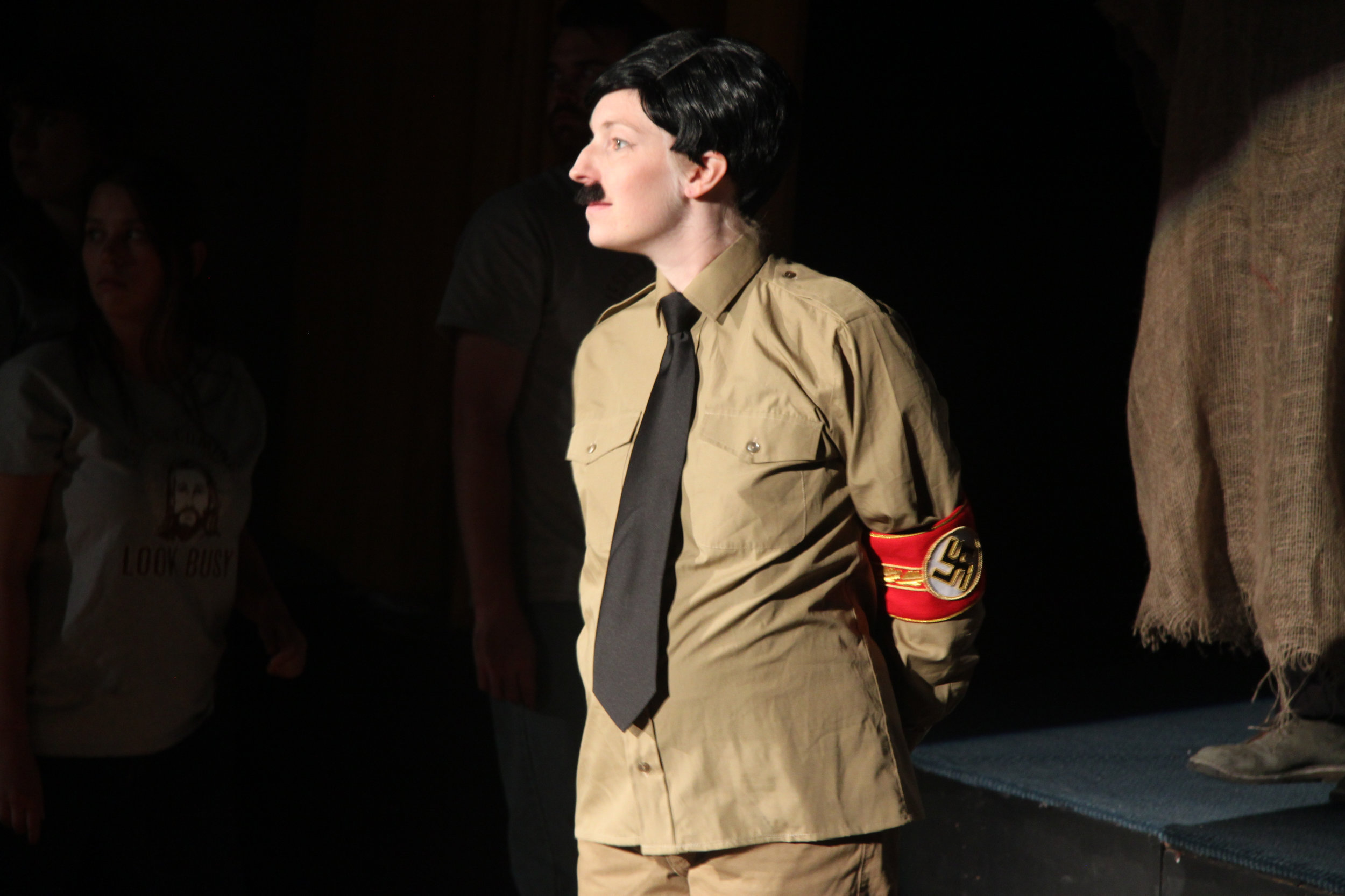 Maev Beaty as Hitler in Passion Play (Part Two)