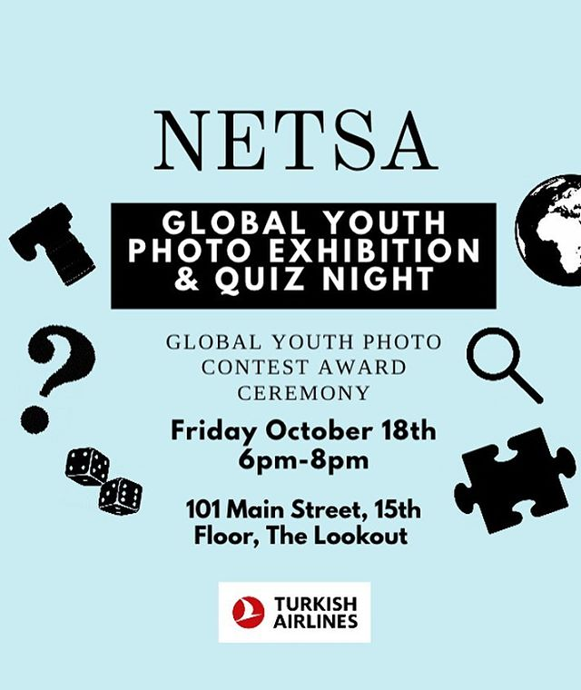 18 Ekim Cuma günü NETSA Global Youth yarışmasına katılan fotoğrafların yer alacağı sergimizde görüşmek üzere! ——————————————————— Hope to see you all in our photo exhibition for NETSA Global Youth Photo Contest on Friday October 18th!  Adres: 101 Main Street, 15th floor, The lookout Cambridge Massachusetts