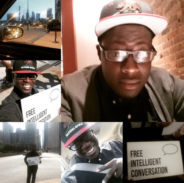 Went to Chi-Town for the FIRST time yesterday with @freeic! Had an amazing time. I will be back! #freeic#breakingsocialbarriers #letstalk   Anthony Bolden  Chicago, IL