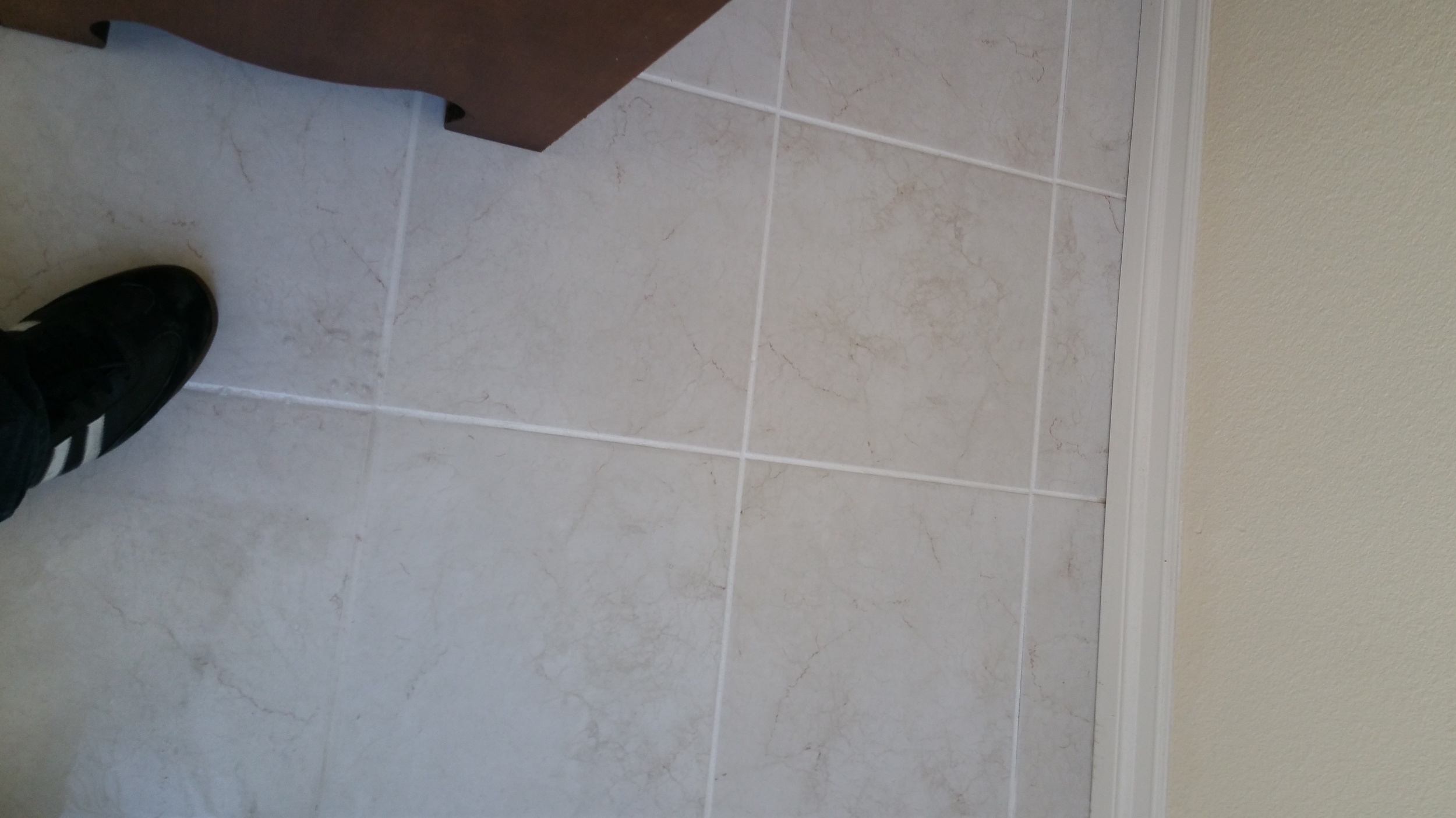 This is a tile that I cleaned, notice how great the grout looks