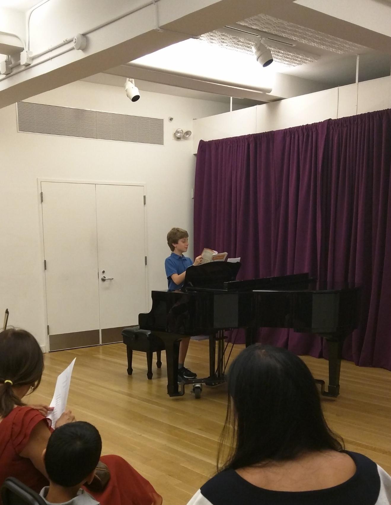 NYC Piano Recital