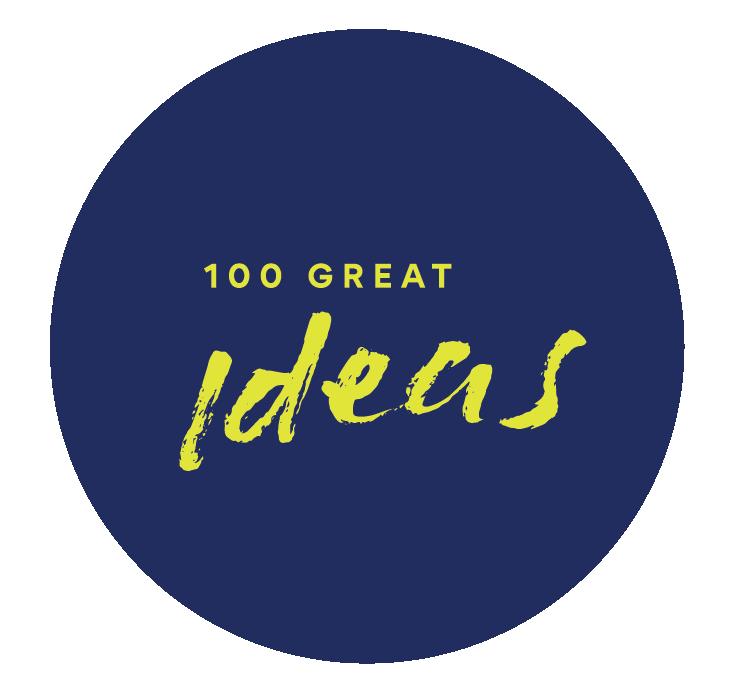 Radical Partners 100 Great Ideas Logo