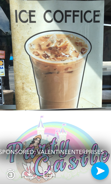 step into my iced coffice (feat custom snapchat geofilter)