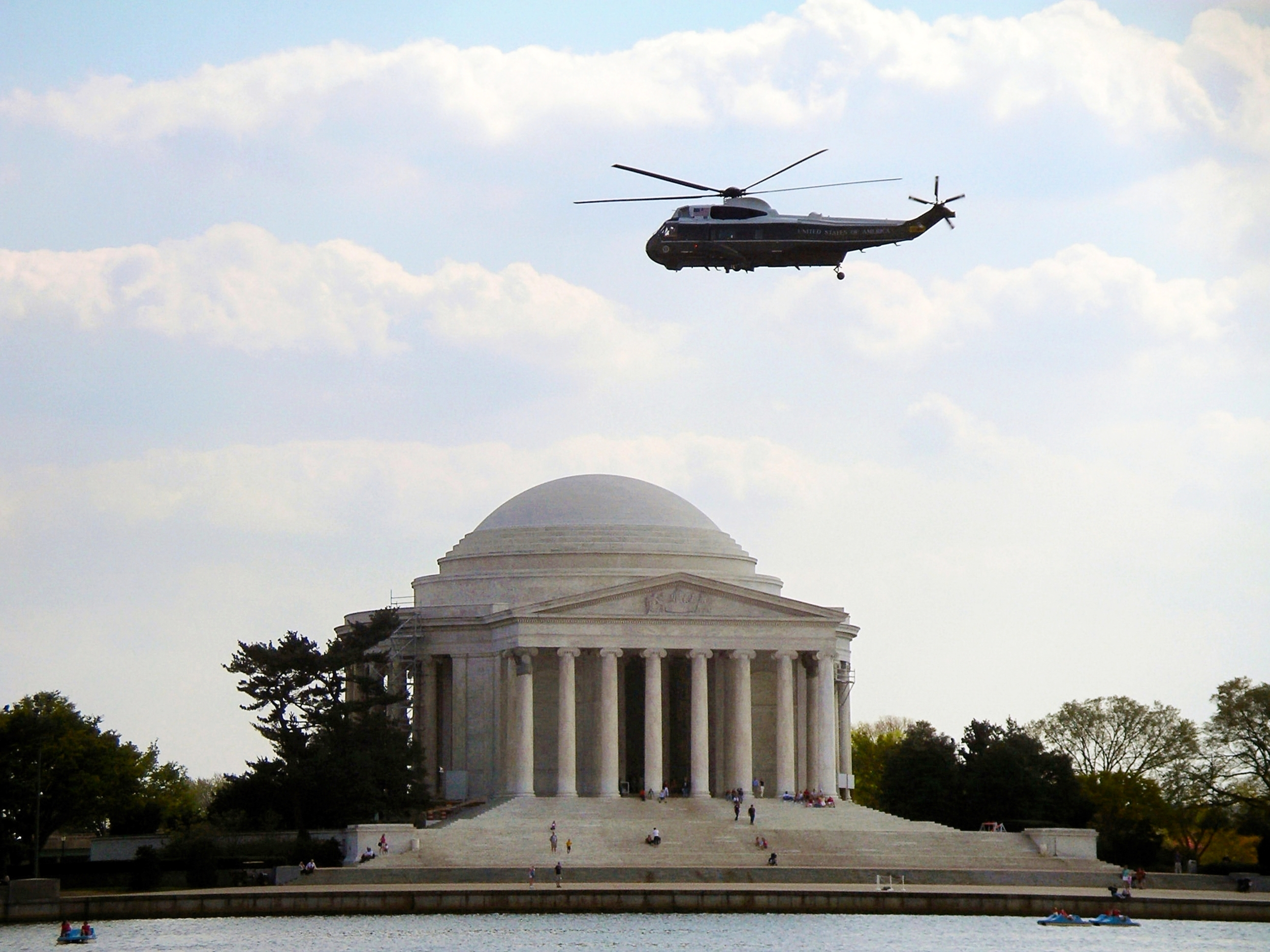 Helicopter Over Jefferson Memorial