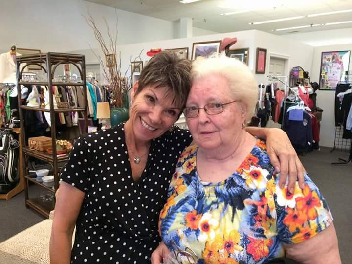Tequesta Mayor Abby Brennan and Our Sister's Place Founder Hazel Raigue