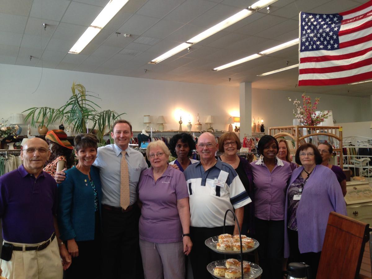 Congressman Patrick Murphy tours Our Sister's Place August 2014