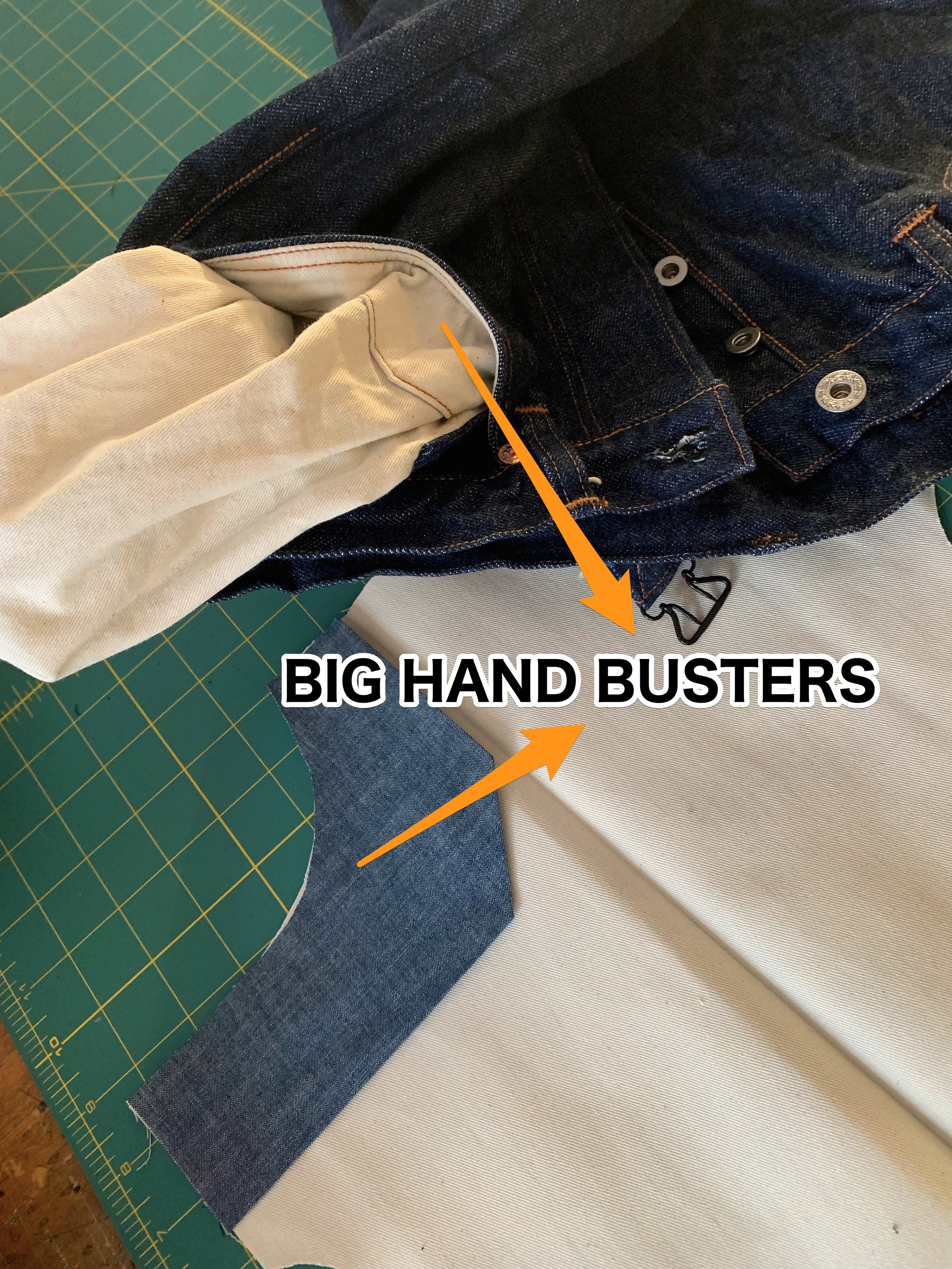 Reinforcement Fabric inside of hand pockets