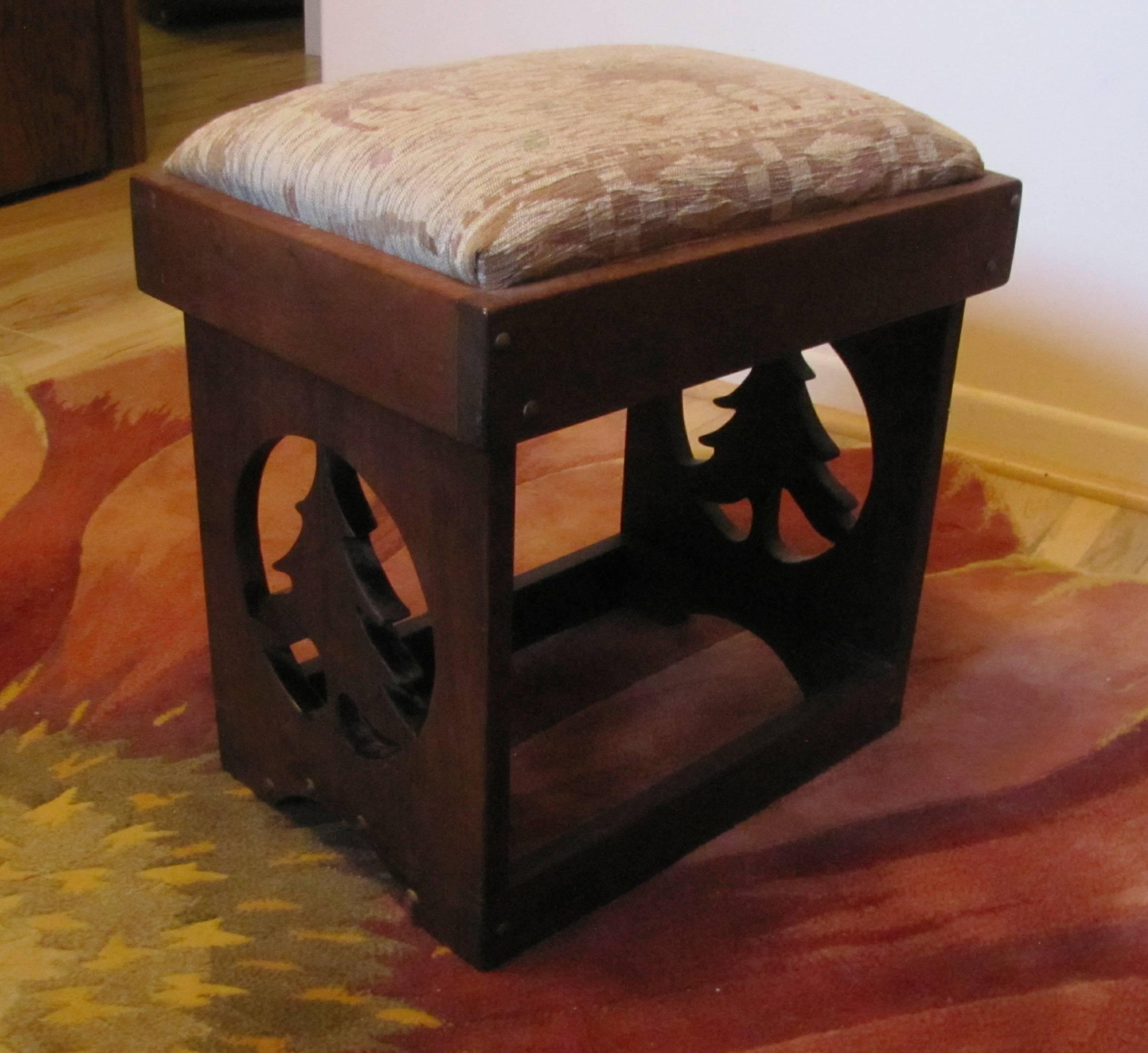 Custom Walnut Stool
