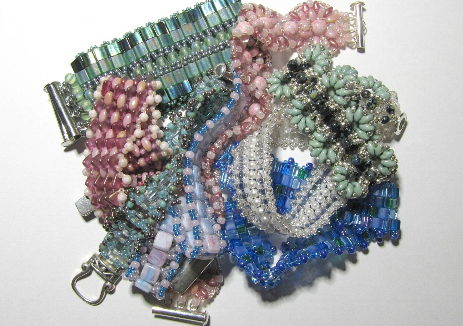 Collection of seed bead bracelets