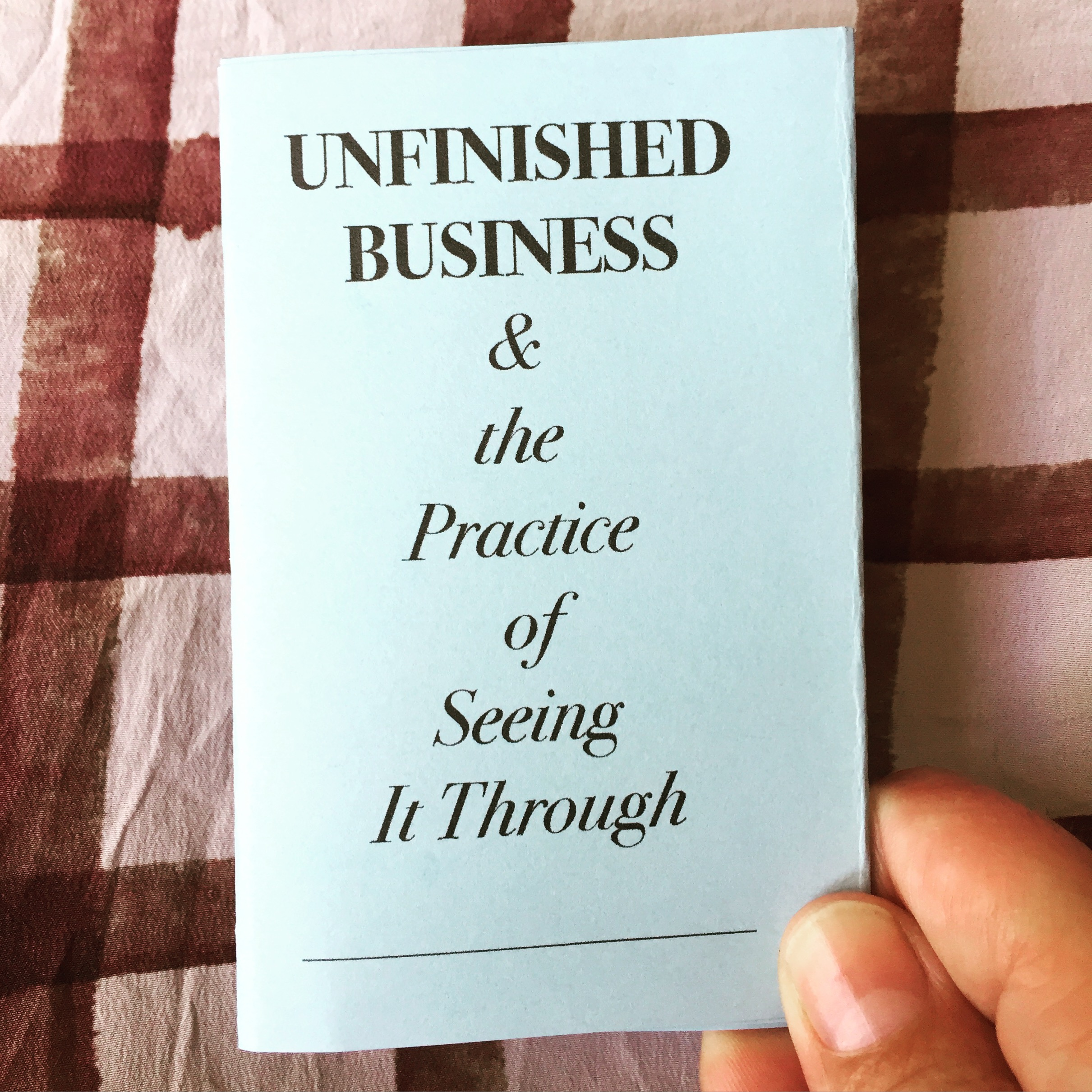 Unfinished Business was first produced in collaboration with  Storefront Institute.