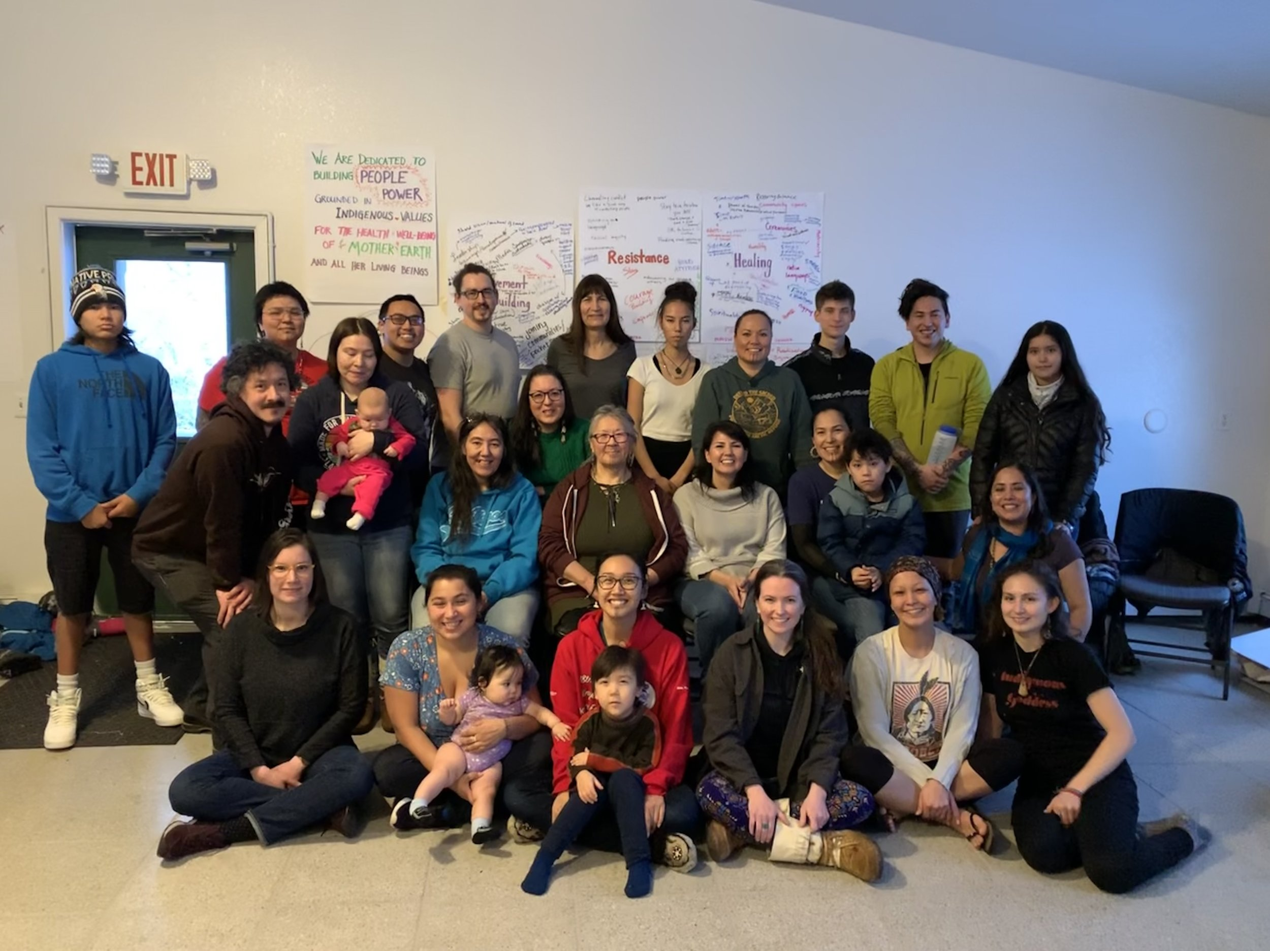 Our 2019 planning retreat: Native Movement Advisory Board, Board, and staff spent a weekend putting our heads and hearts together.