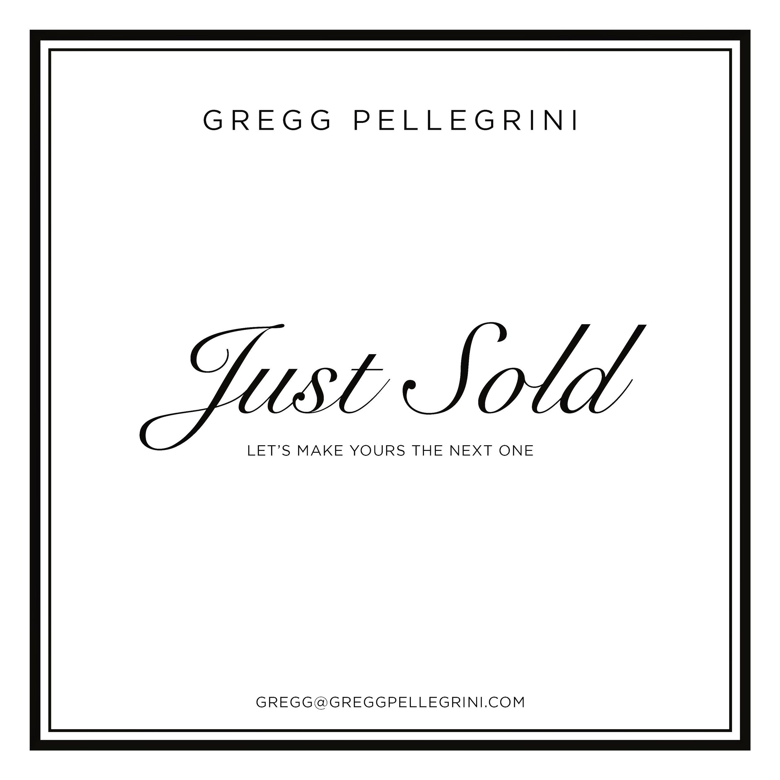 Just Sold Gregg Pellegrini