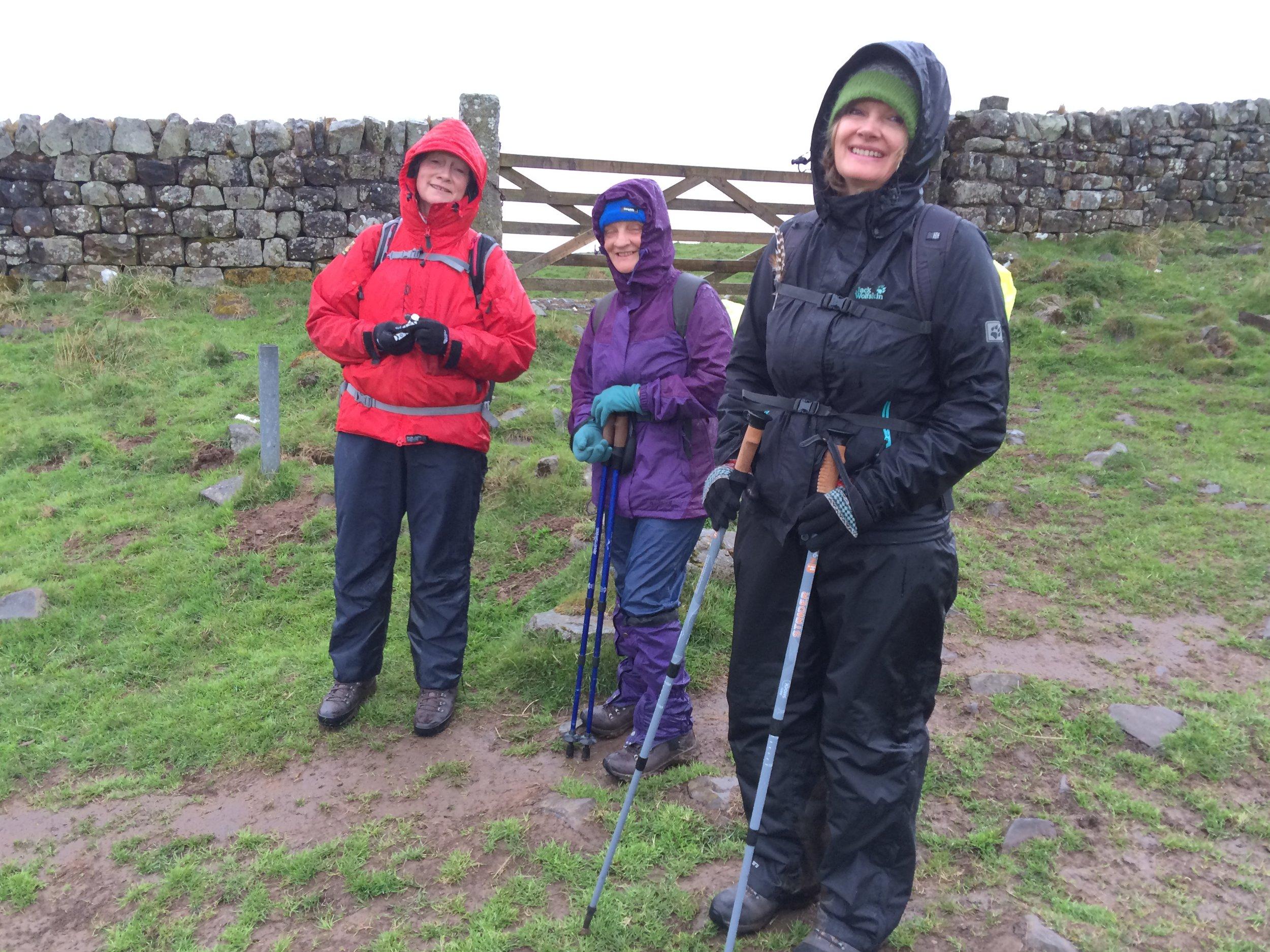 A wet start, full waterproofs after breakfast as we leave xx