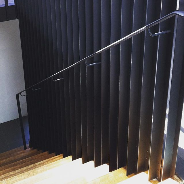 Staircase #metal #powdercoat #interiors #creativedesign #design #home #stairs #bannister #wood #handrail #fabrication #welding #crafted #madeinmelbourne #nkliving