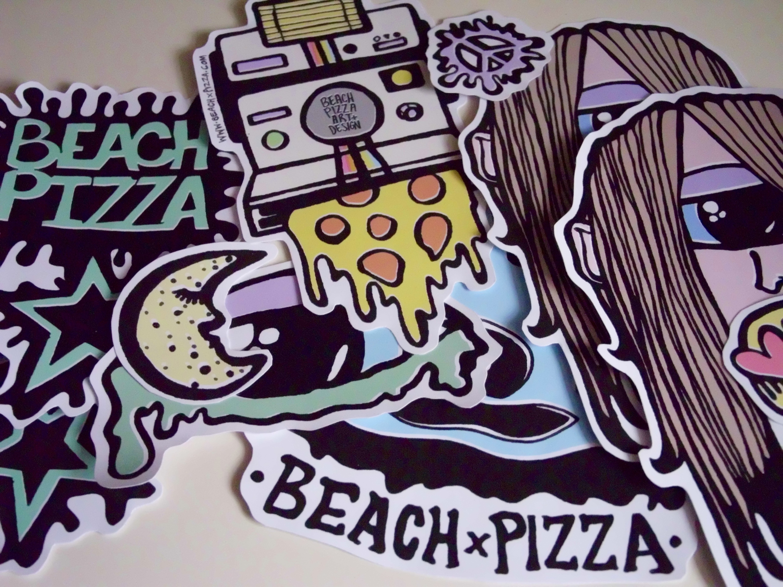 BEACHXPIZZA Stickers