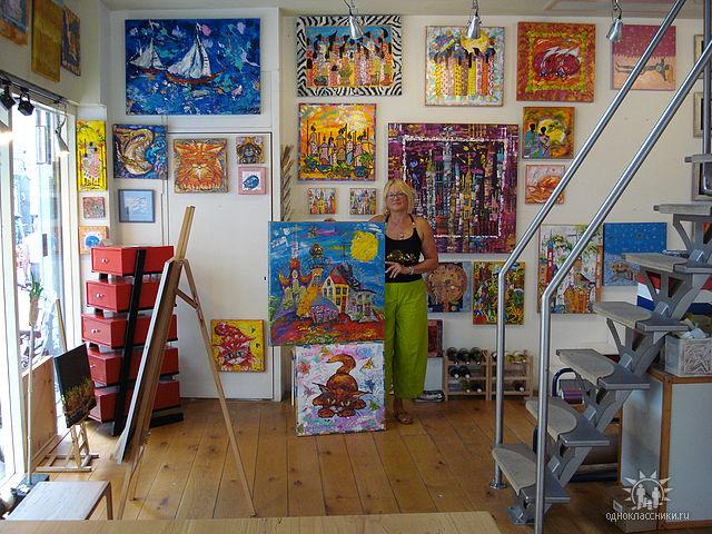 Expositie galerie Kunst&ZO, 2014, Groningen ,Painting by Tatyana Murova, www.artterra.com