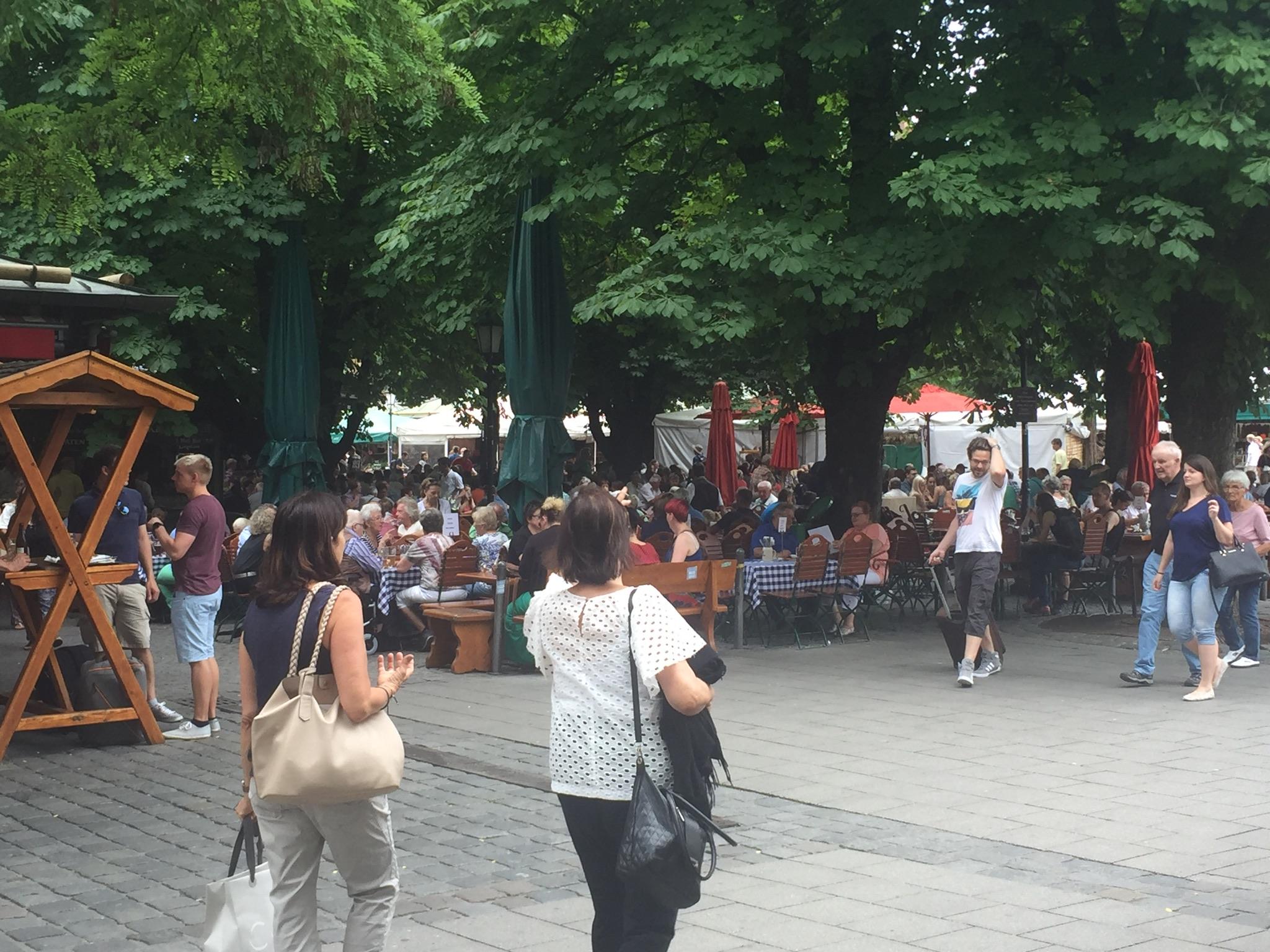 The Biergarten in Viktualiemarkt.
