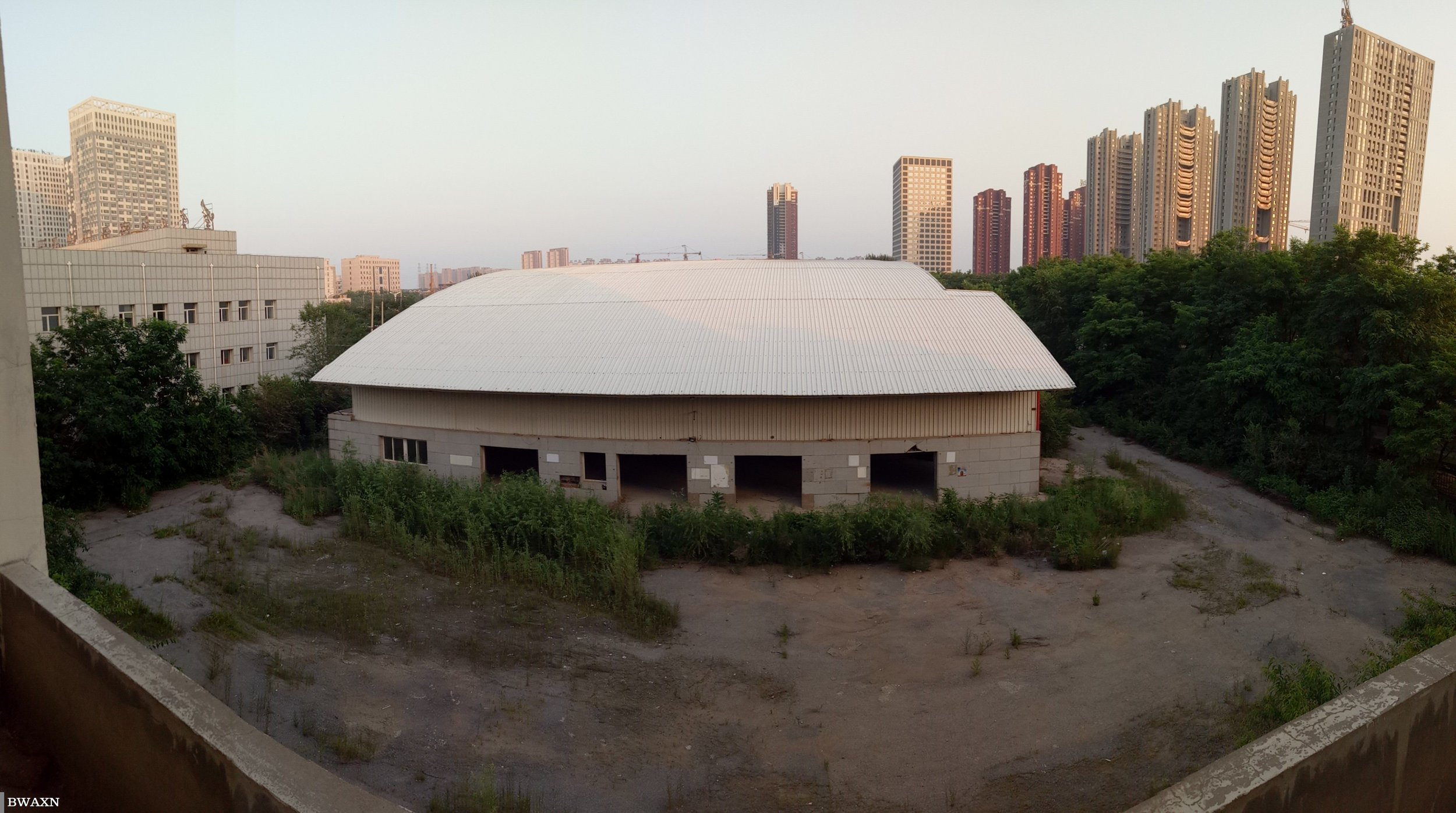 The warehouse from above.