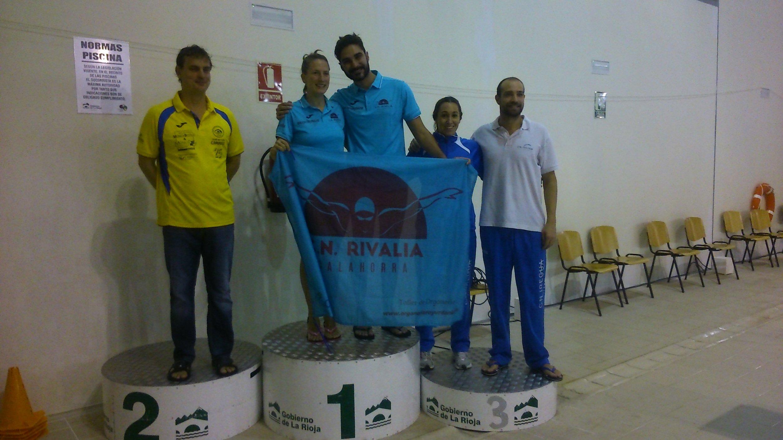 De izquierda a derecha: representantes del CN Camargo, CN Rivalia y CN Iregua.