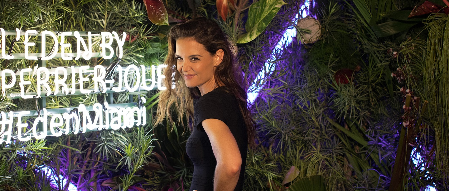 Katie Holmes at Perrier-Jouët's L'Eden event in Miami