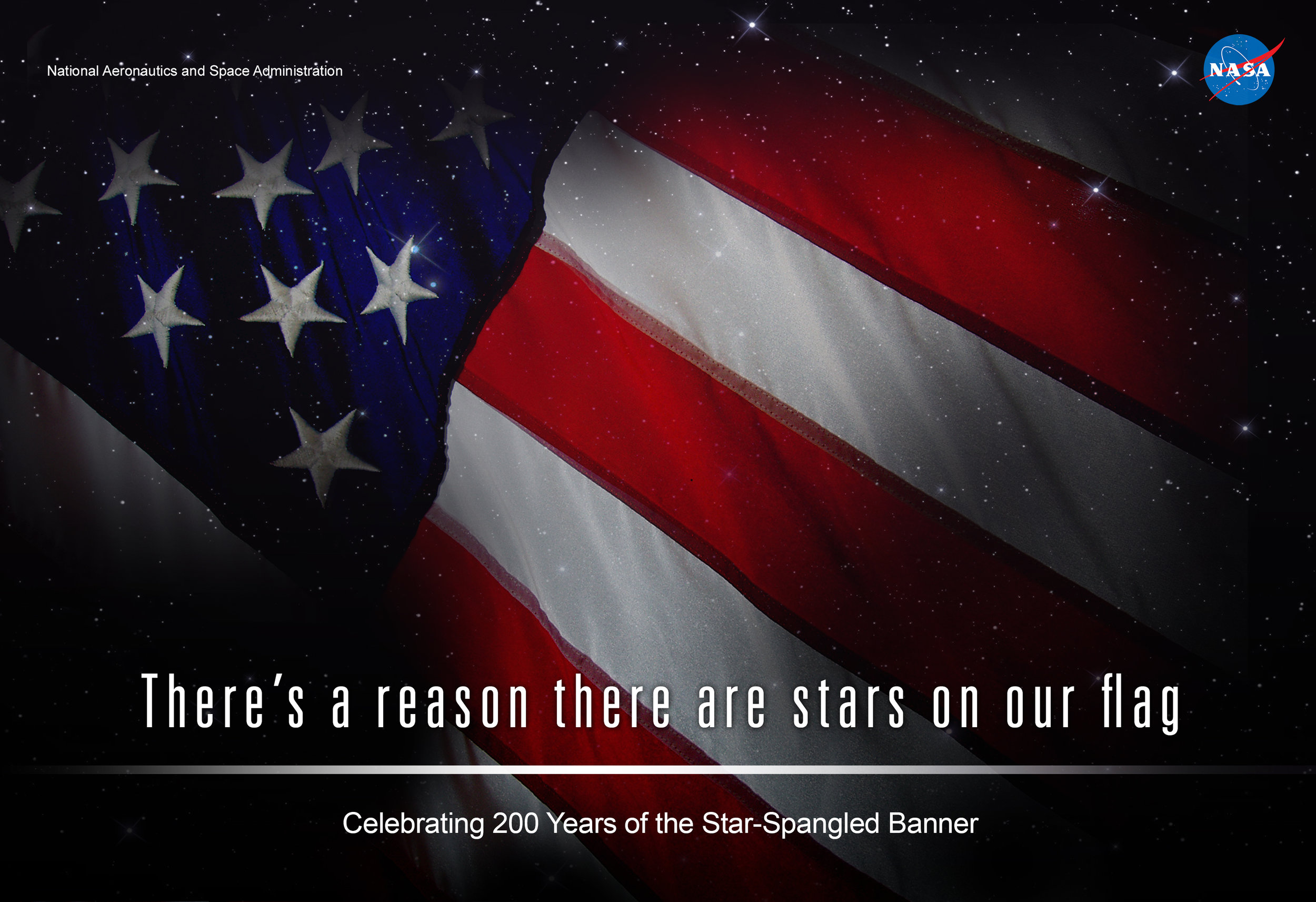 Print and social media creative for the anniversary of the Star Spangled Banner
